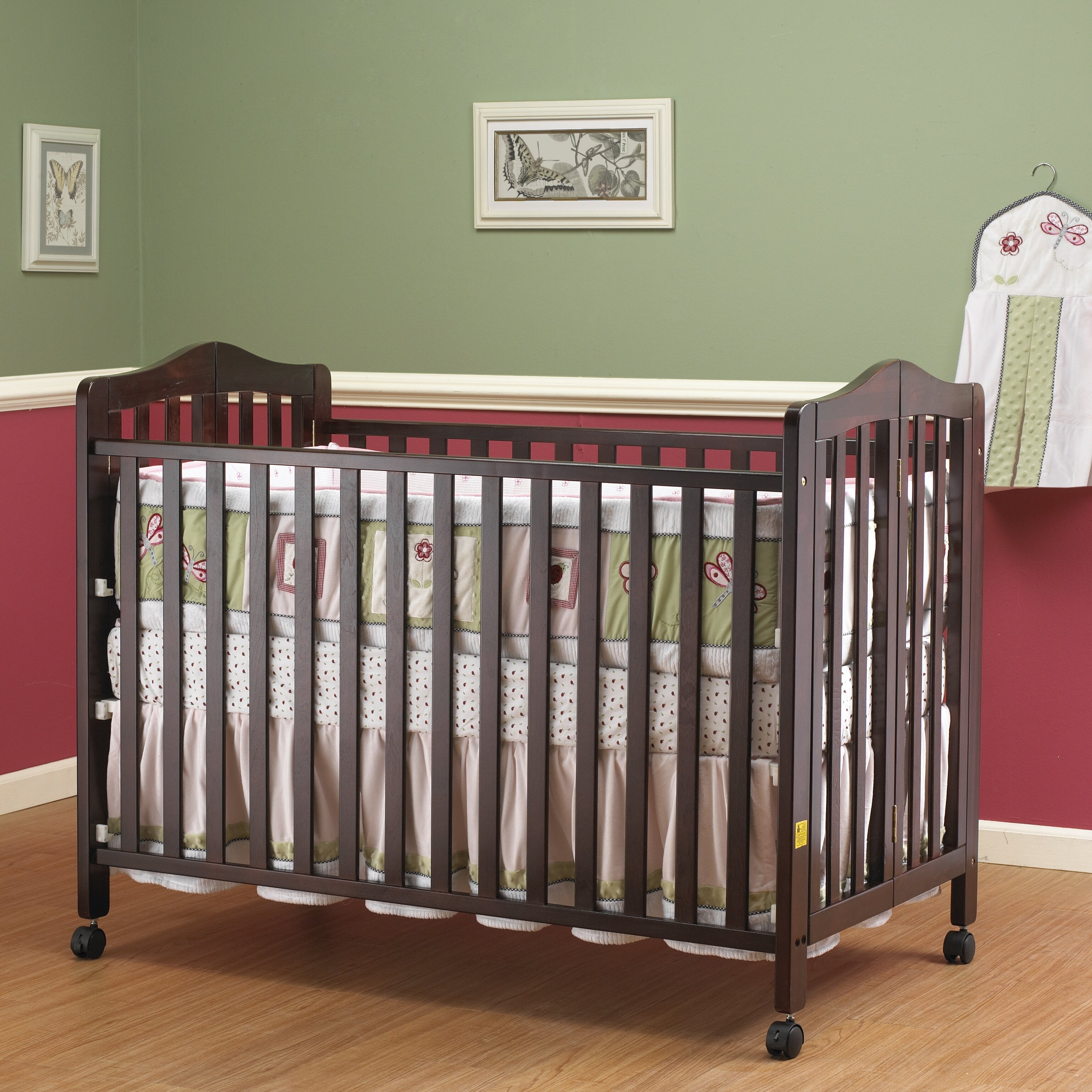 Alternatives to crib for babies - Lisa Two Level Full Size Folding Convertible Crib