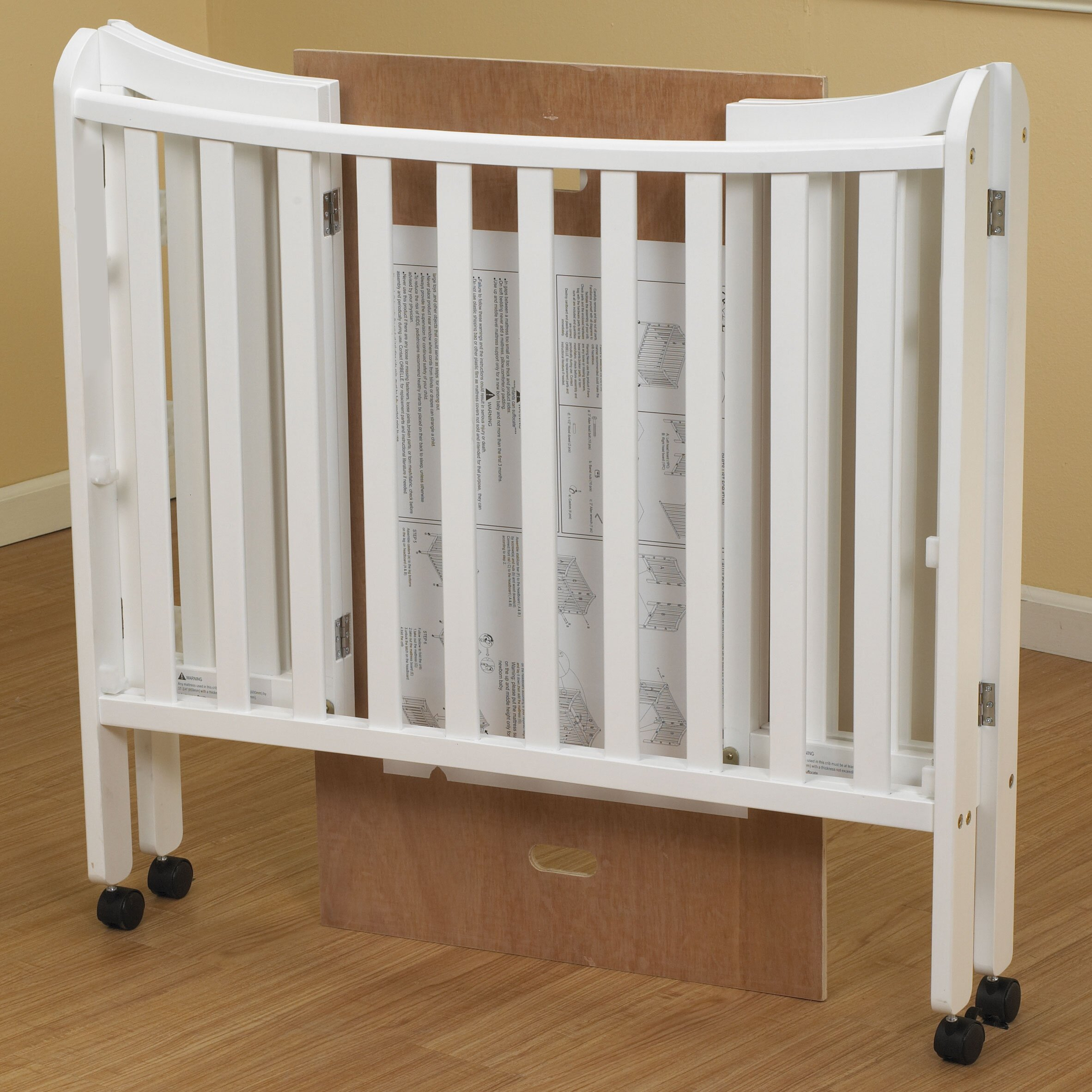 Crib heights for babies - Orbelle Trading Tian Convertible Crib With Mattress