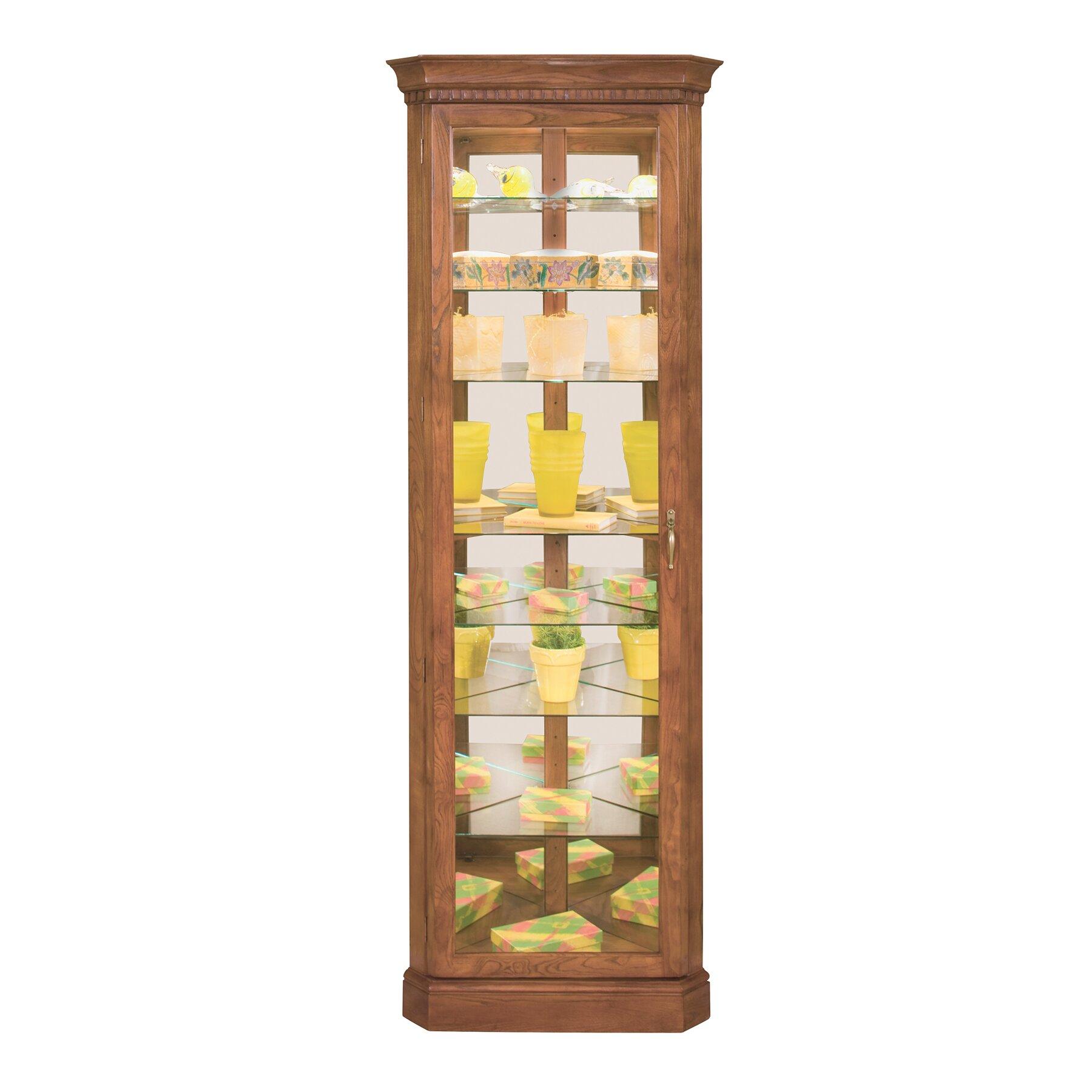 Corner Kitchen Curio Cabinet Philip Reinisch Co Lighthouse Octave Corner Curio Cabinet