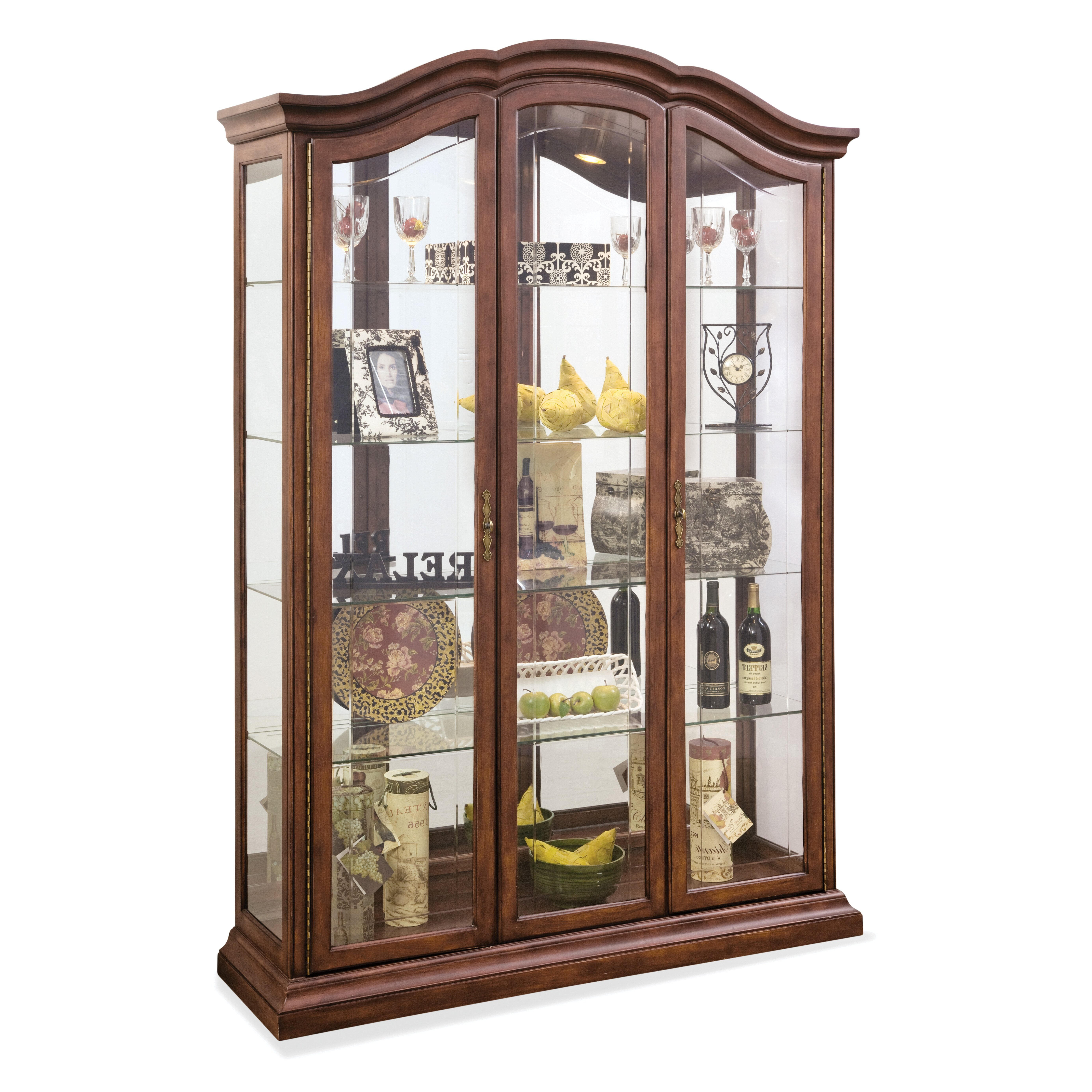 Jasper Curio Cabinet Locking Wine Curio Cabinet Wayfair