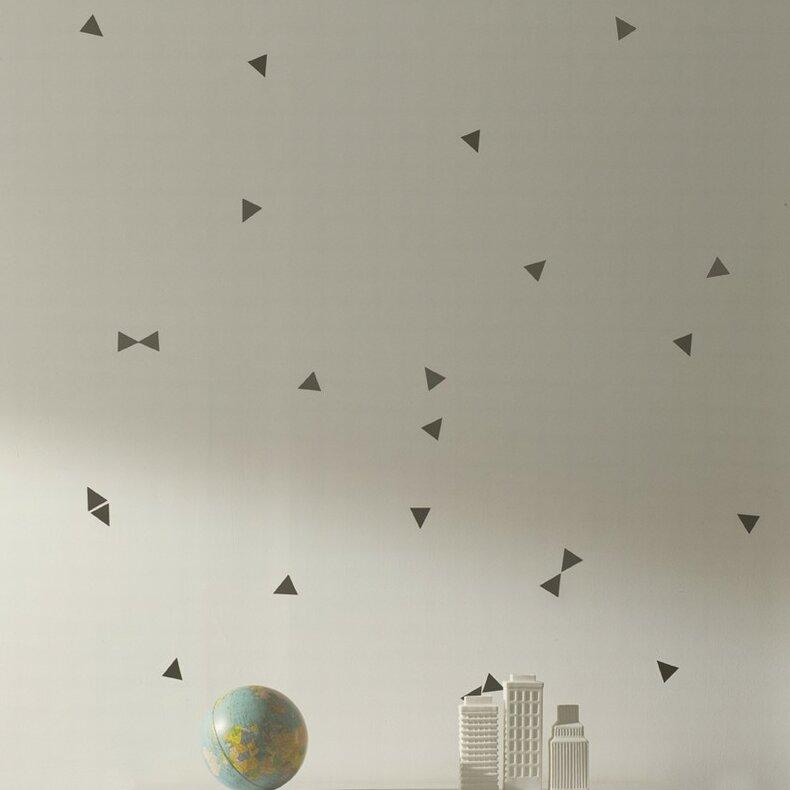 ferm living mini triangle wall decal reviews wayfair. Black Bedroom Furniture Sets. Home Design Ideas