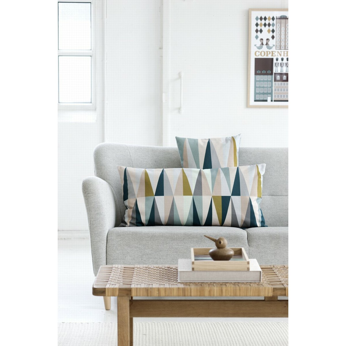 ferm living spear organic cotton lumbar pillow reviews wayfair