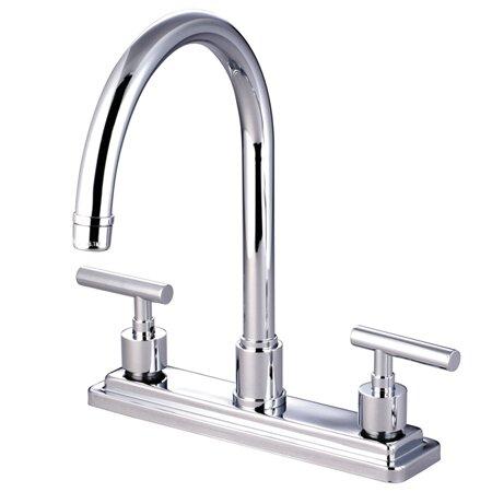 Elements Of Design Sydney Double Handle Centerset Kitchen Faucet Reviews Wayfair