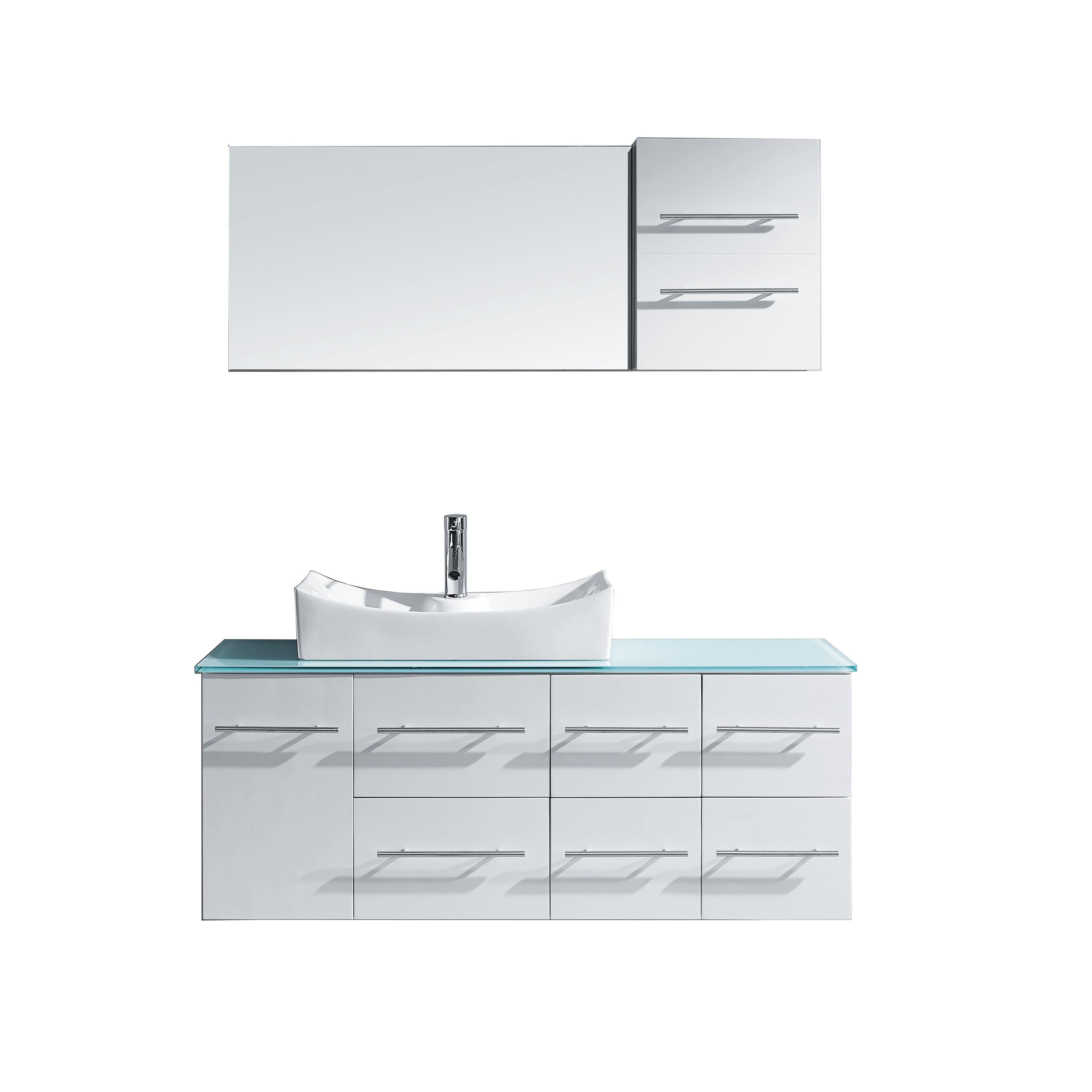 Marsala 55 single bathroom vanity set with tempered glass for All modern bathroom vanity