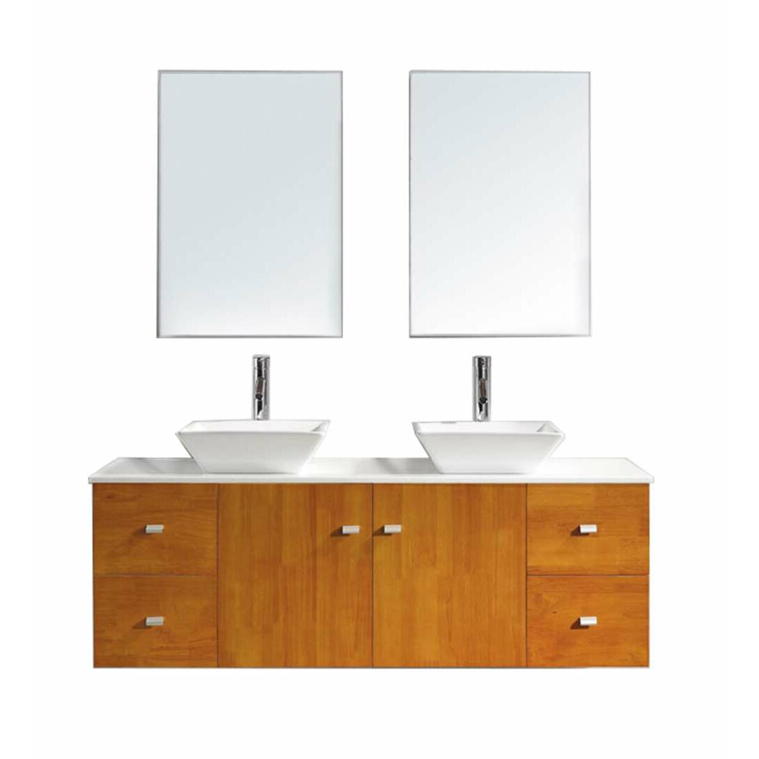 Bathroom Vanity Montreal Virtu Clarissa 61 Double Bathroom Vanity Set With Stone Top And