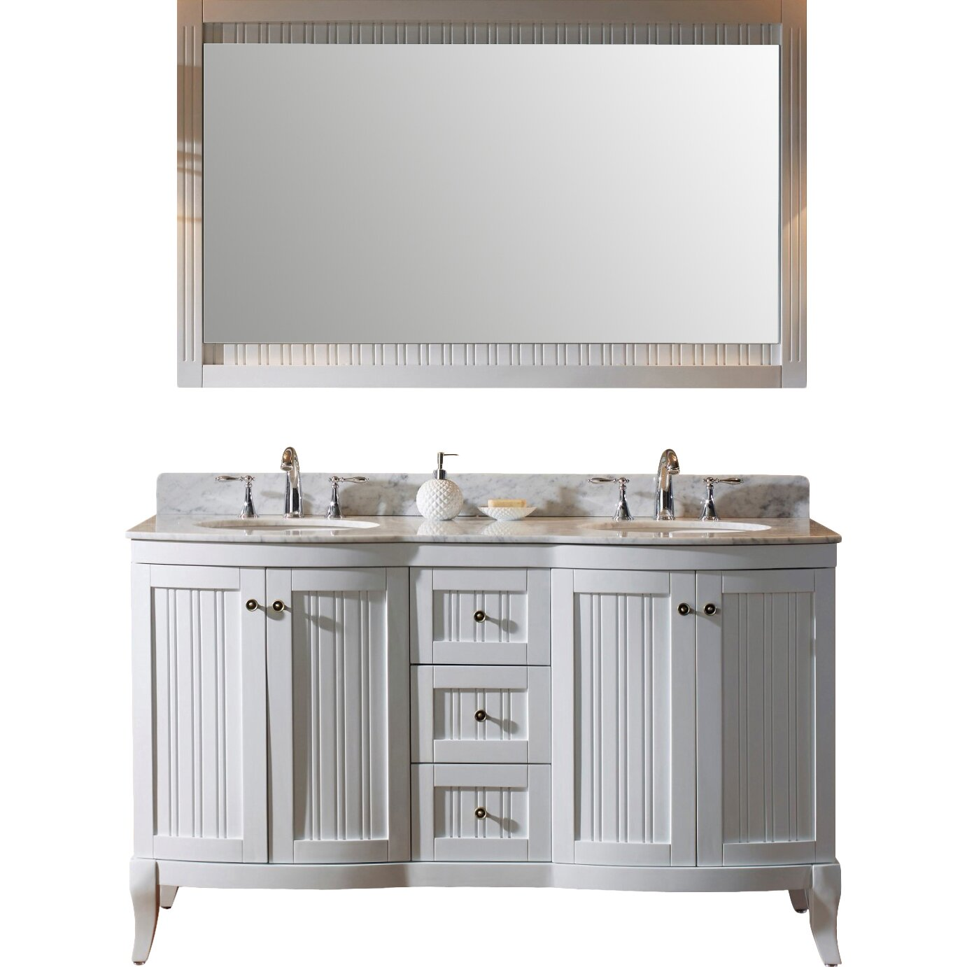 virtu khaleesi 60 quot bathroom vanity set with white