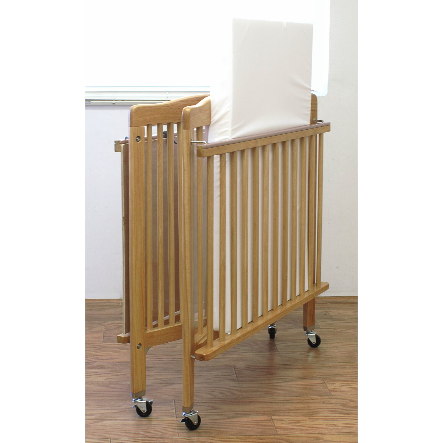 Baby cribs for daycare centers - L A Baby Baby Crib With Mattress