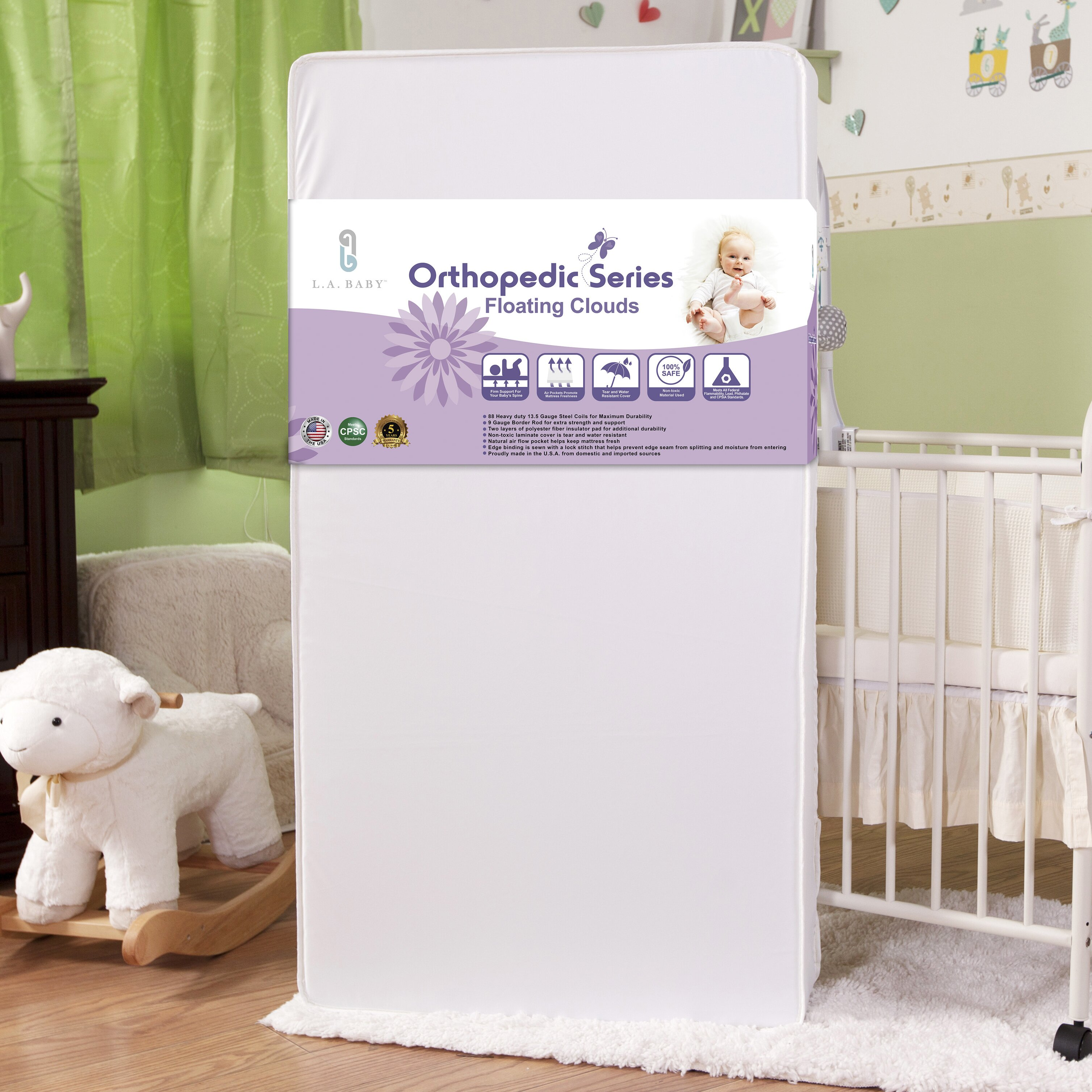 Best baby crib mattress 2013 - L A Baby Floating Clouds Crib Mattress