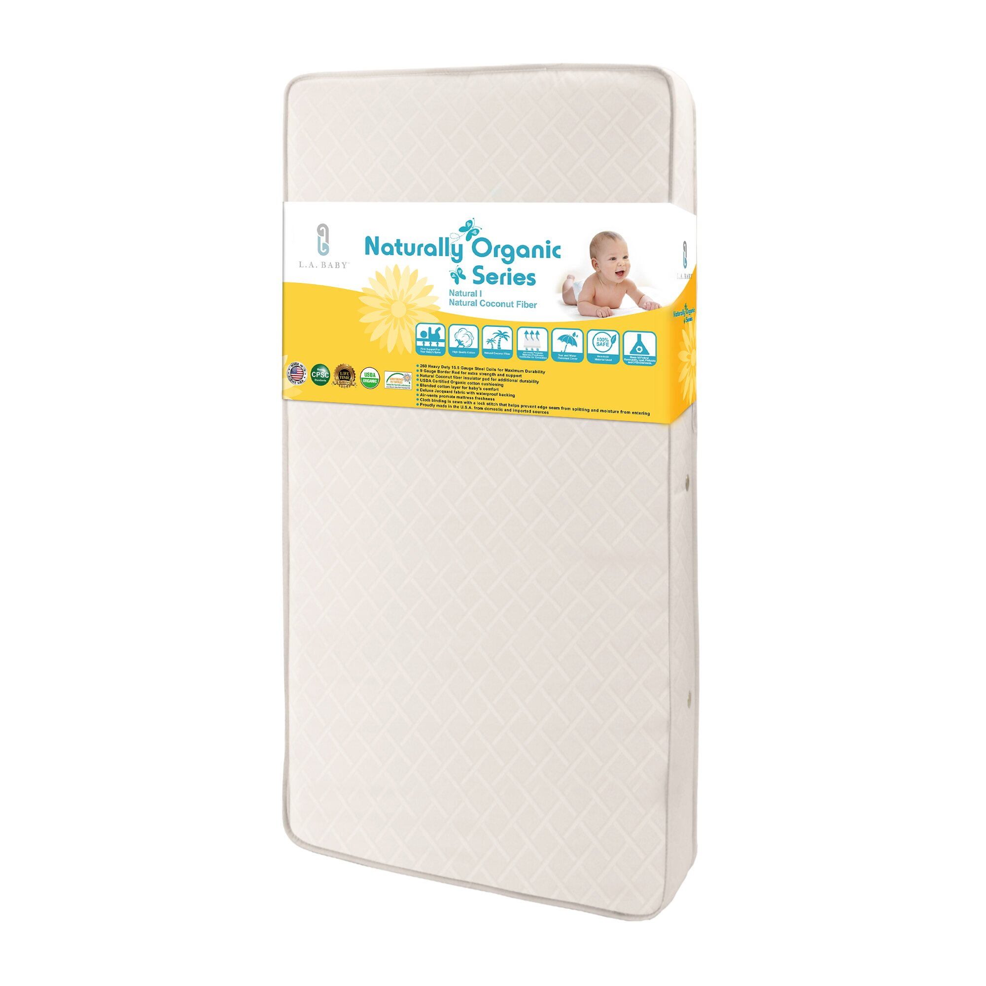 Best baby crib mattress 2013 - L A Baby Natural I 5 75 Quot Crib Mattress