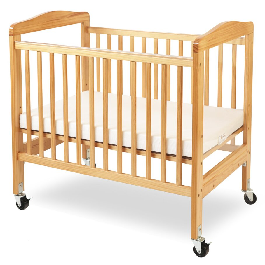 Crib for sale louisville ky - L A Baby Compact Wooden Window Convertible Crib With Mattress