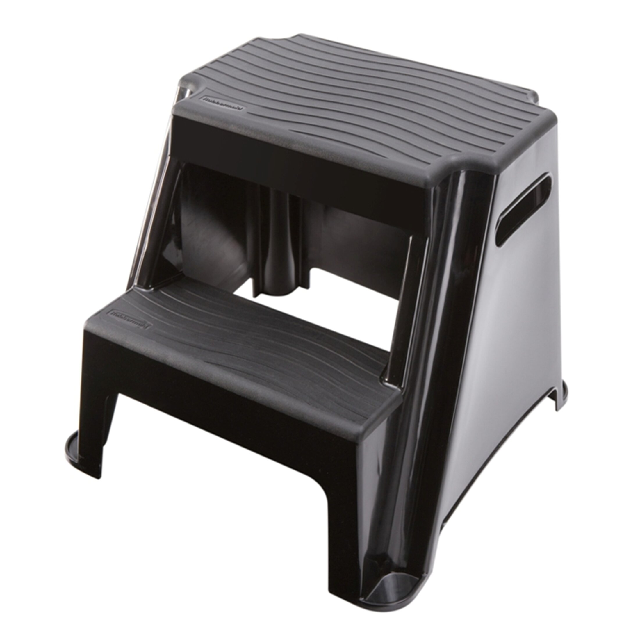 Rubbermaid 2 Step Plastic Molded Step Stool With 300 Lb