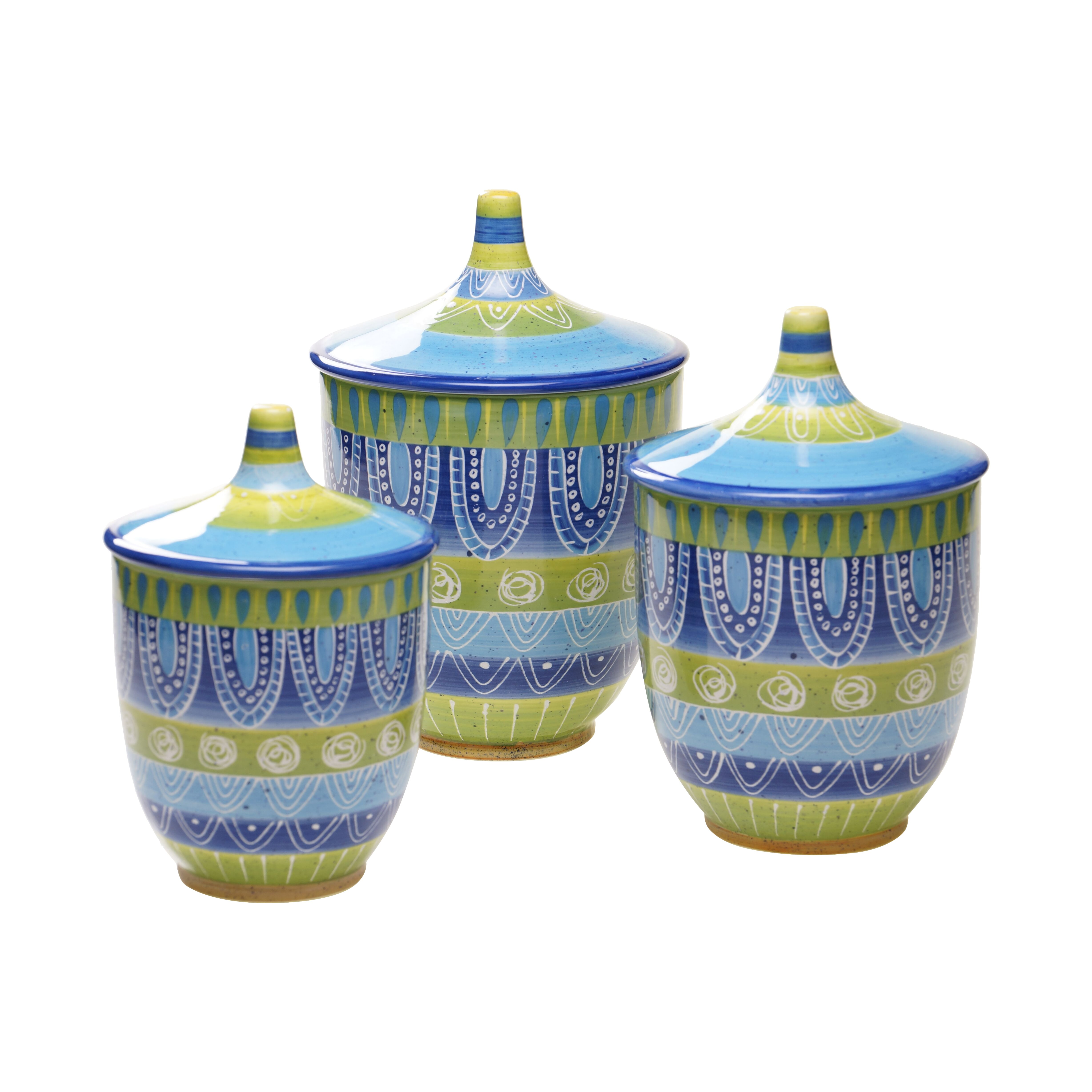 Green Kitchen Canister Set Blue Kitchen Canisters Jars Youll Love Wayfair
