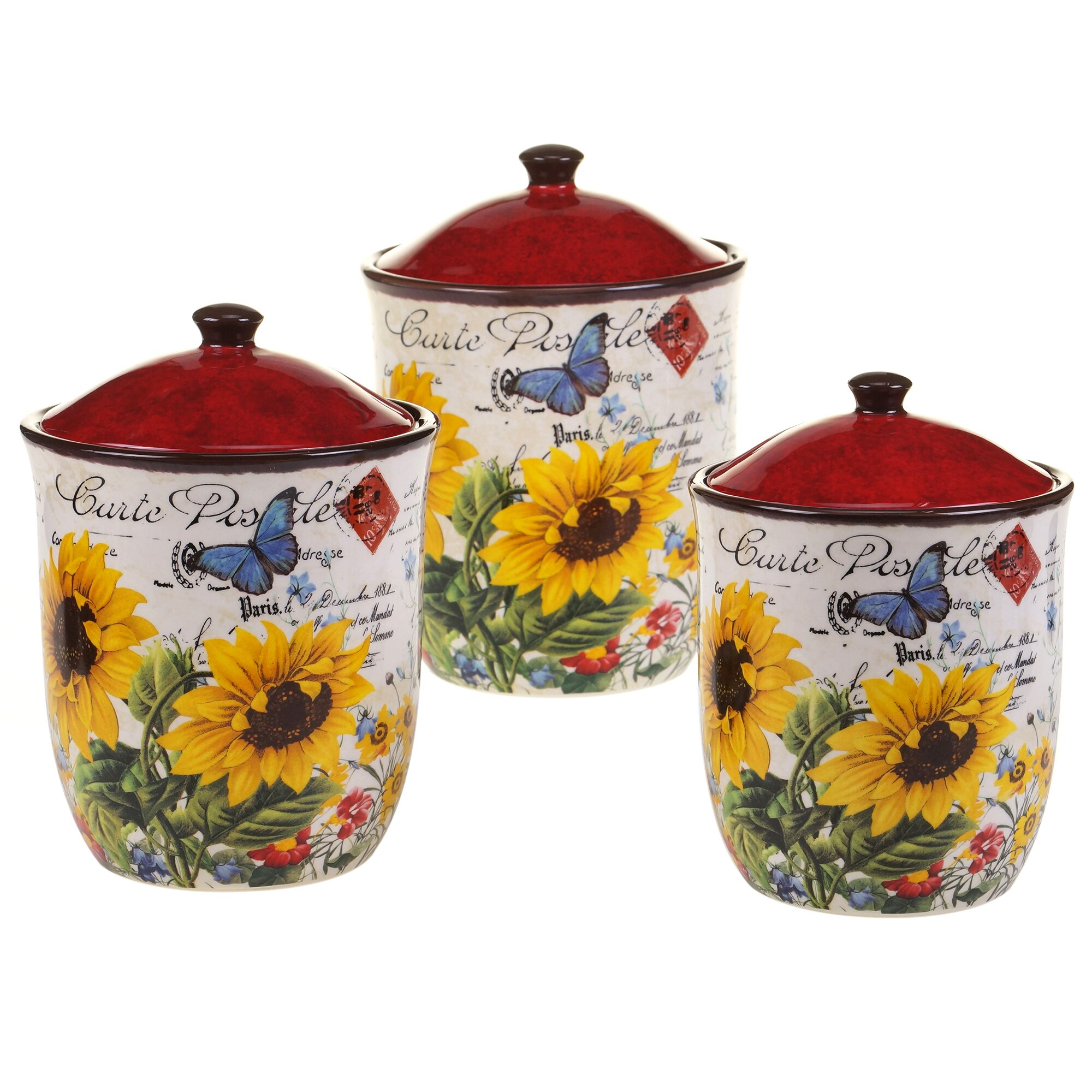 certified international sunflower meadow 3 piece kitchen certified international sunflower meadow 3 piece kitchen