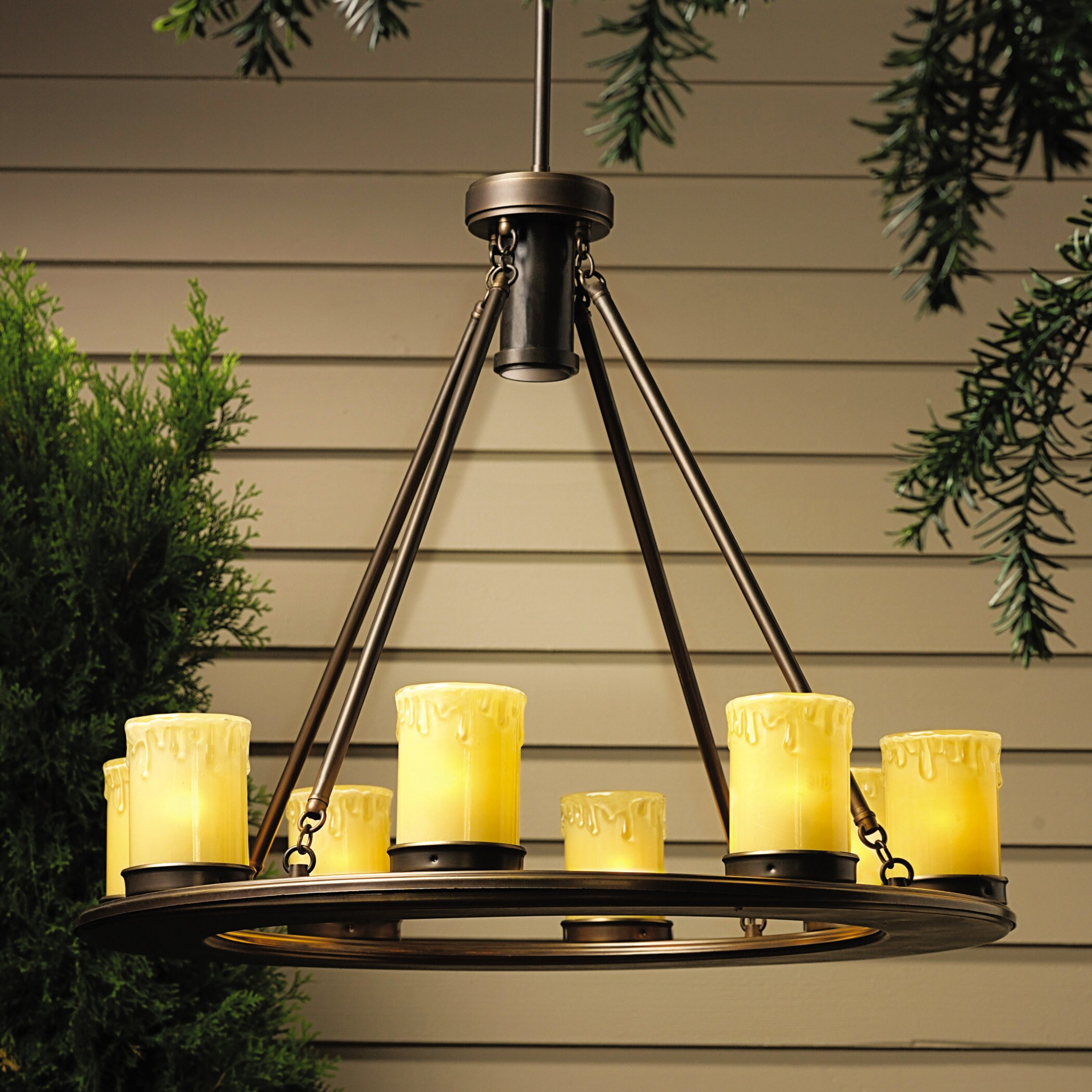 Kichler Oak Trail 9Light Outdoor Chandelier Reviews – Candle Chandelier Outdoor