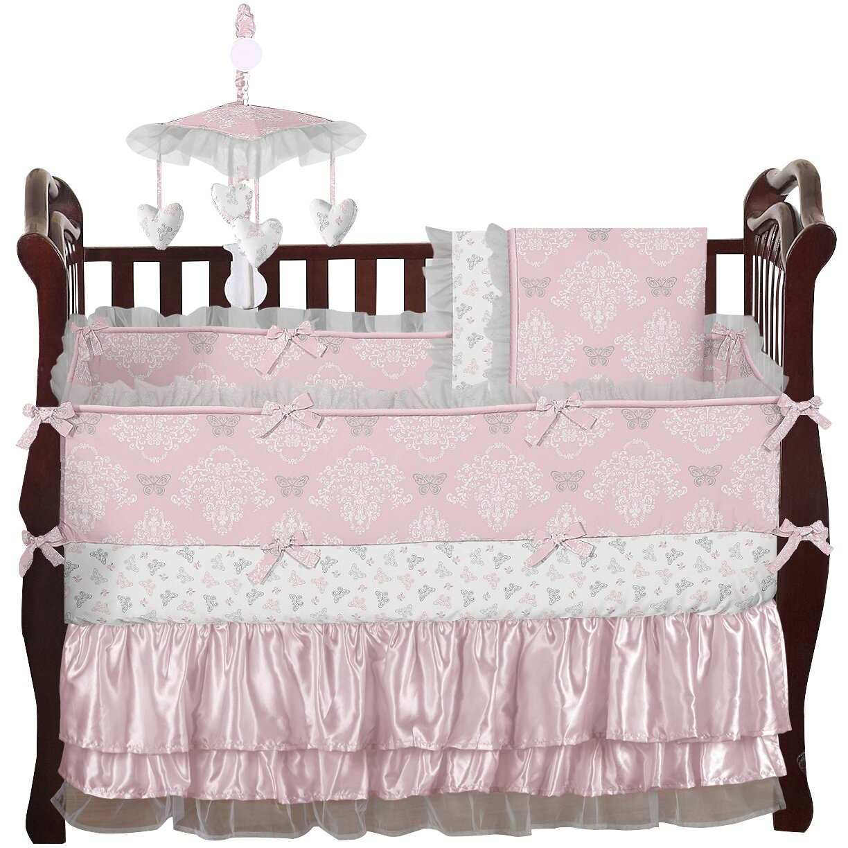 Baby cribs queens ny - Sweet Jojo Designs Alexa 9 Piece Crib Bedding Set