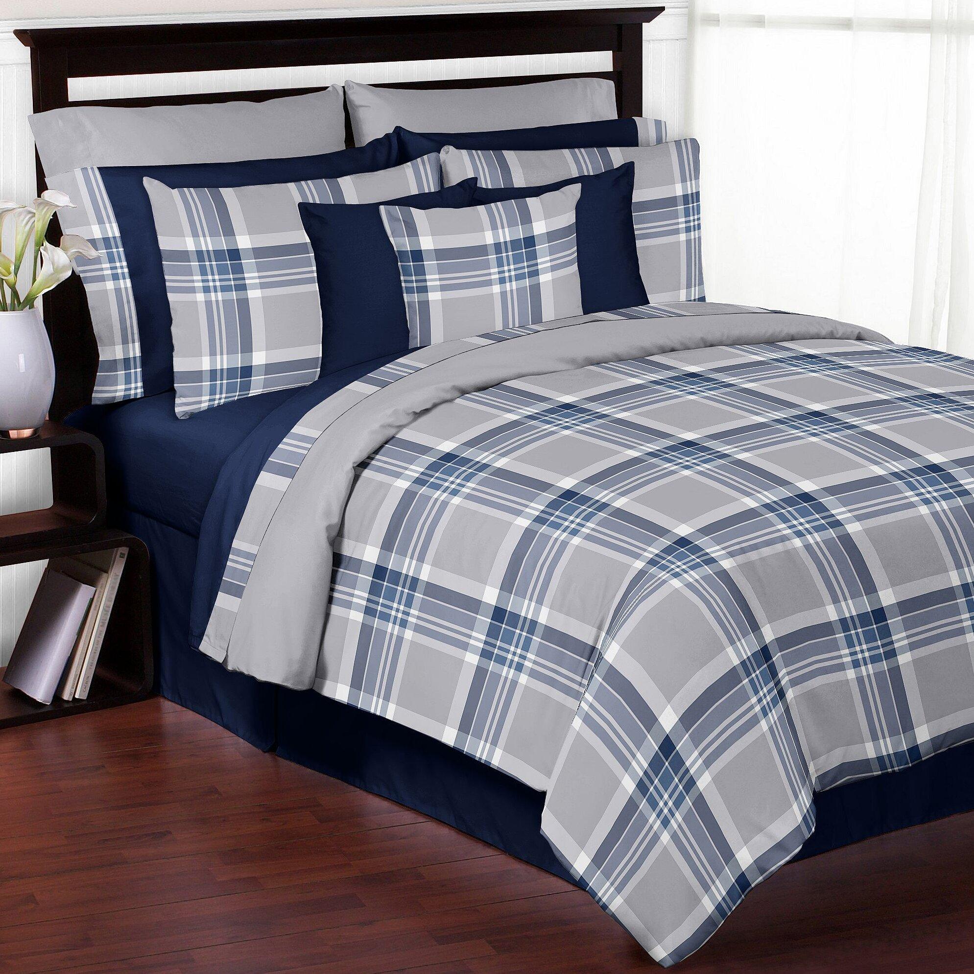 Plaid Bedroom Sweet Jojo Designs Plaid Comforter Set Reviews Wayfair