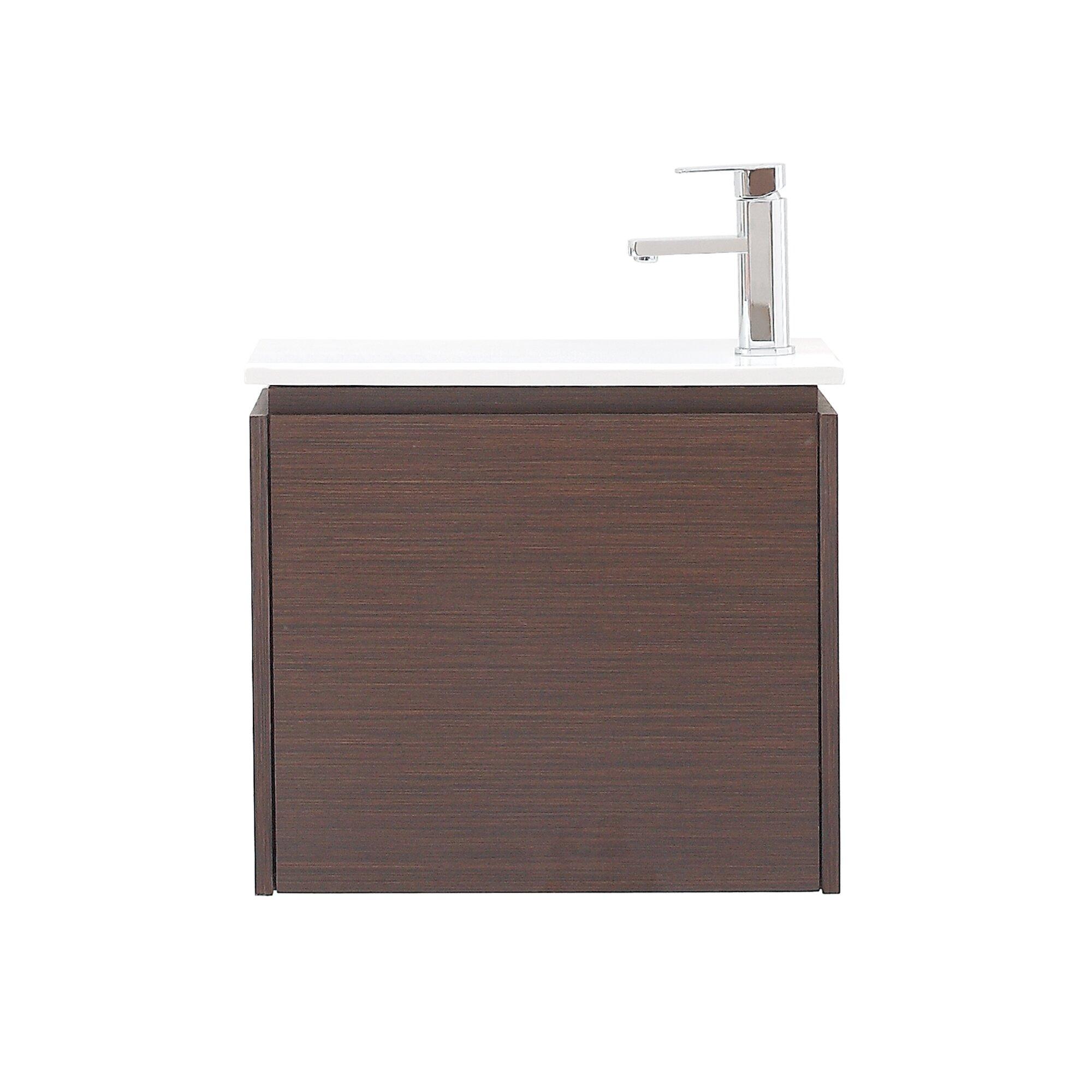 Avanity Milo 22 Quot Single Wall Mounted Bathroom Vanity Set