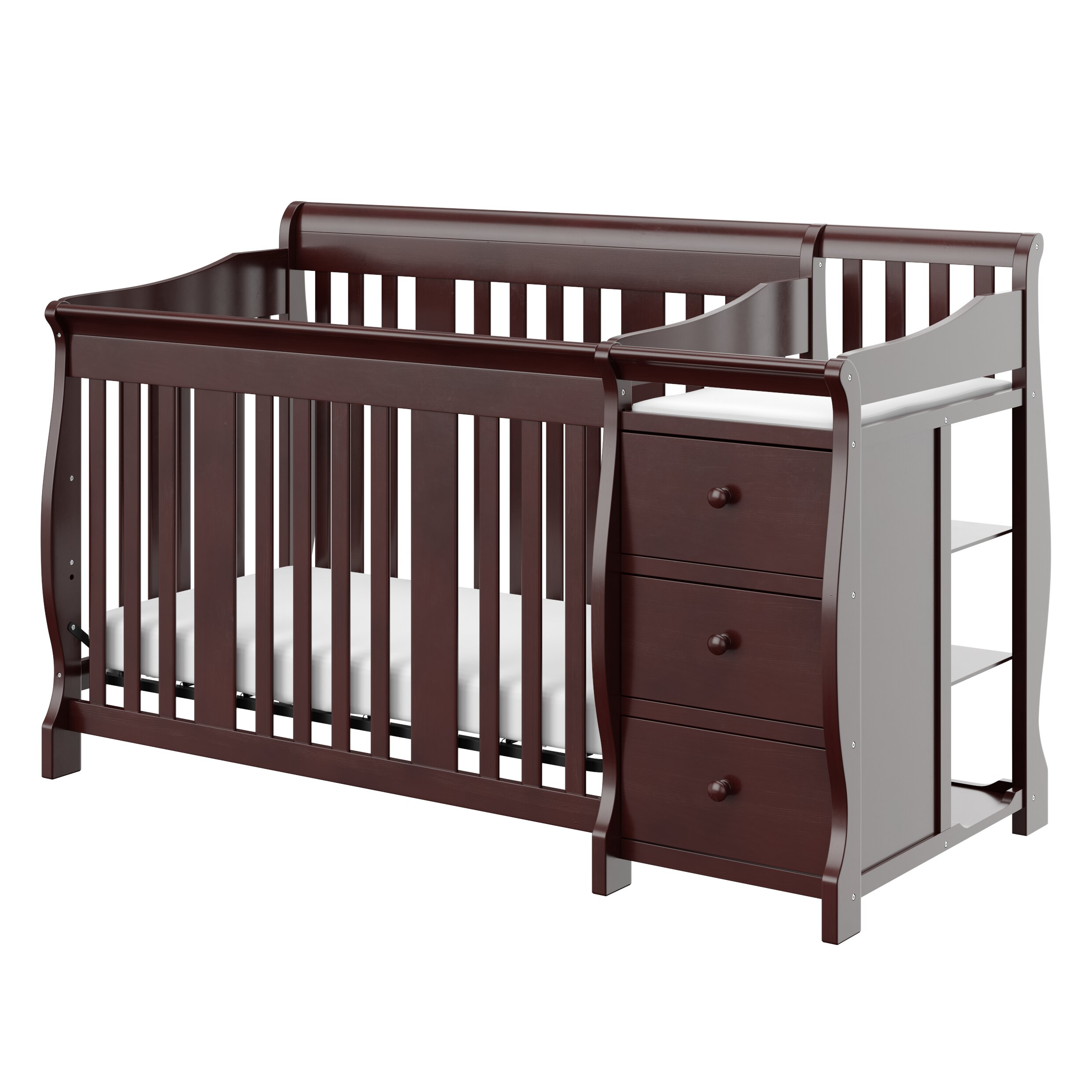 Espresso crib for sale - Storkcraft Portofino 4 In 1 Convertible Crib