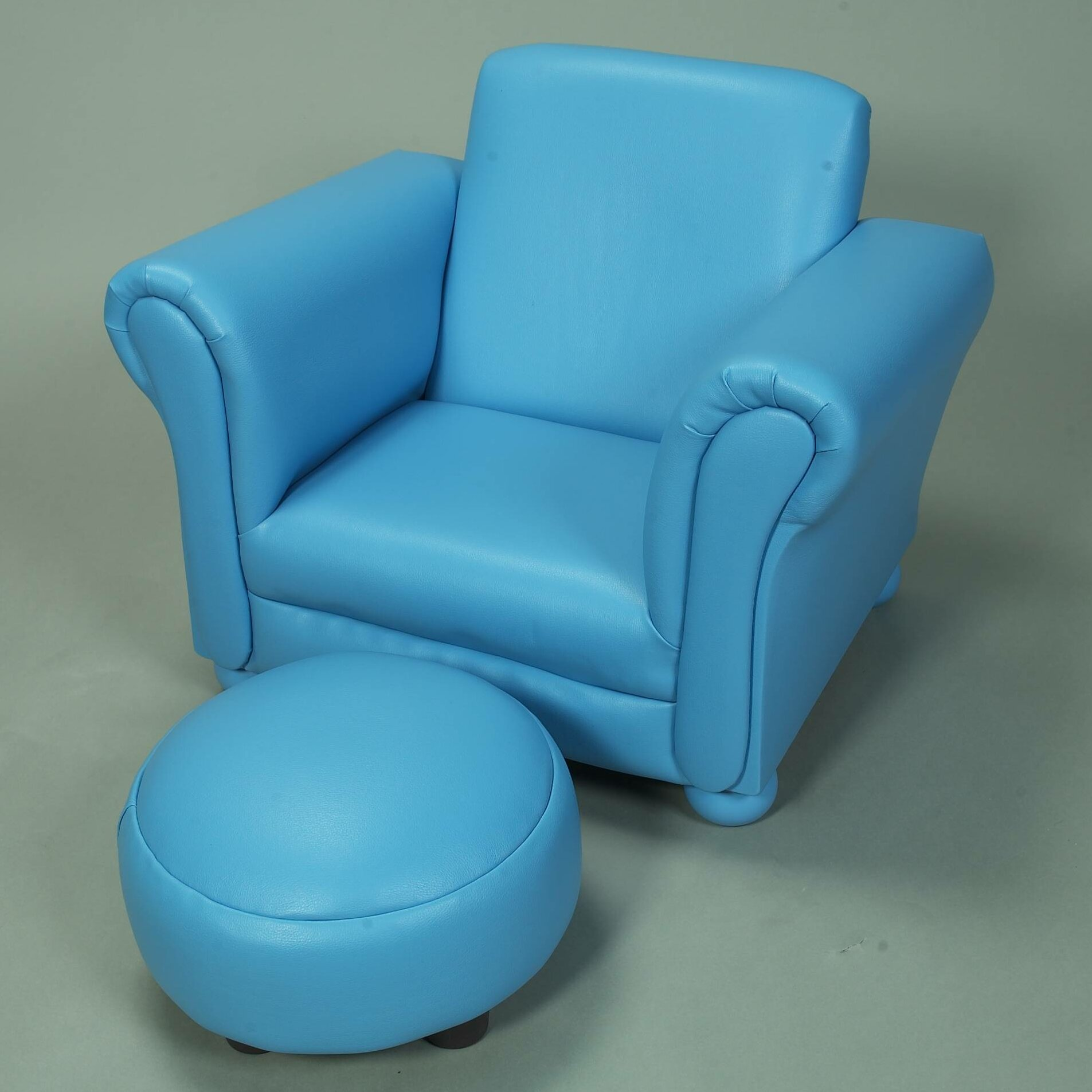 Gift Mark Upholstered Childrens Faux Leather Club Chair and – Childs Leather Chair