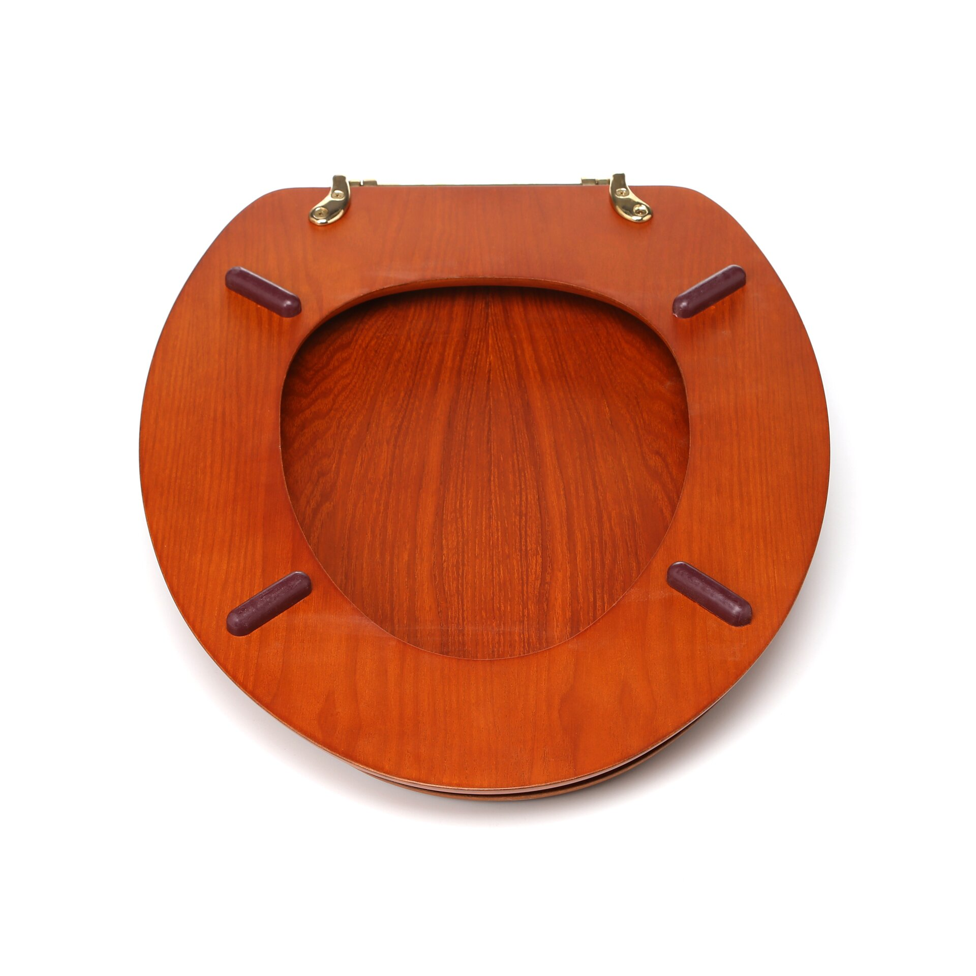 Dark Wood Toilet Seat - Oak toilet seat soft close