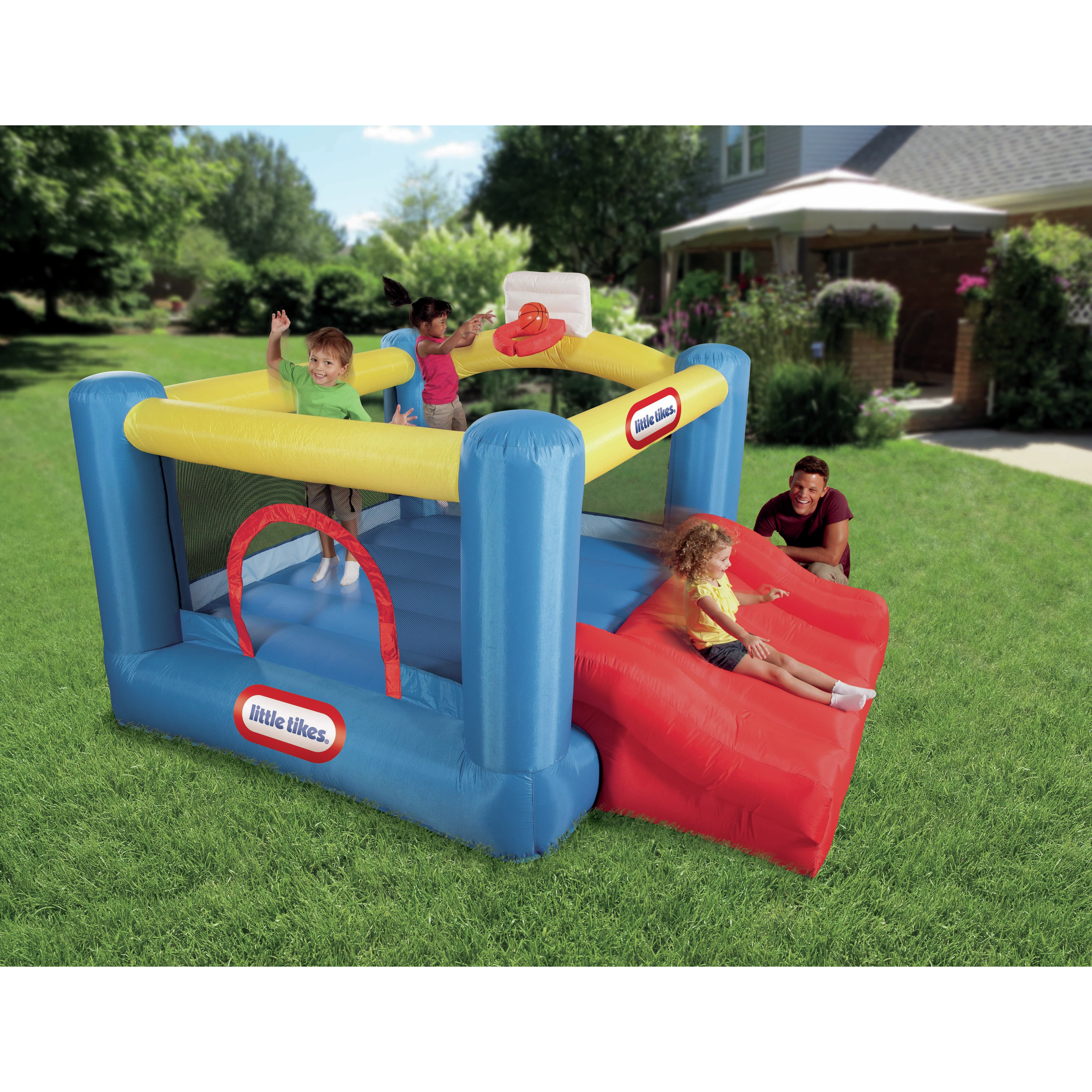 Little Tikes Outdoor Kitchen Little Tikes Jr Sports N Slide Bounce House Reviews Wayfair