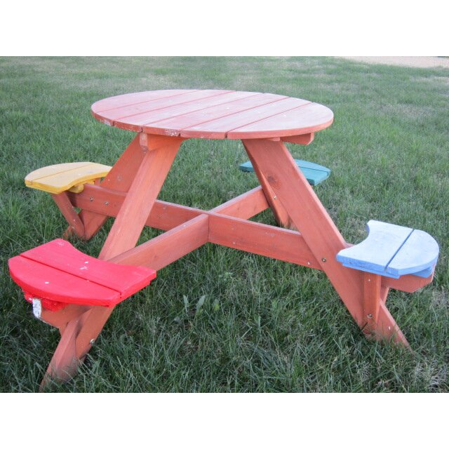 With Round Picnic Table. Cool With Round Picnic Table. Beautiful Round ...
