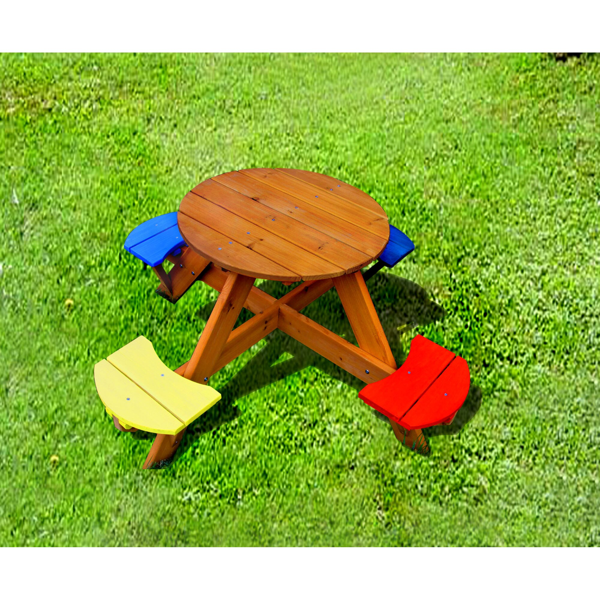 . Cool With Round Picnic Table. Beautiful Round Picnic Table Plans ...
