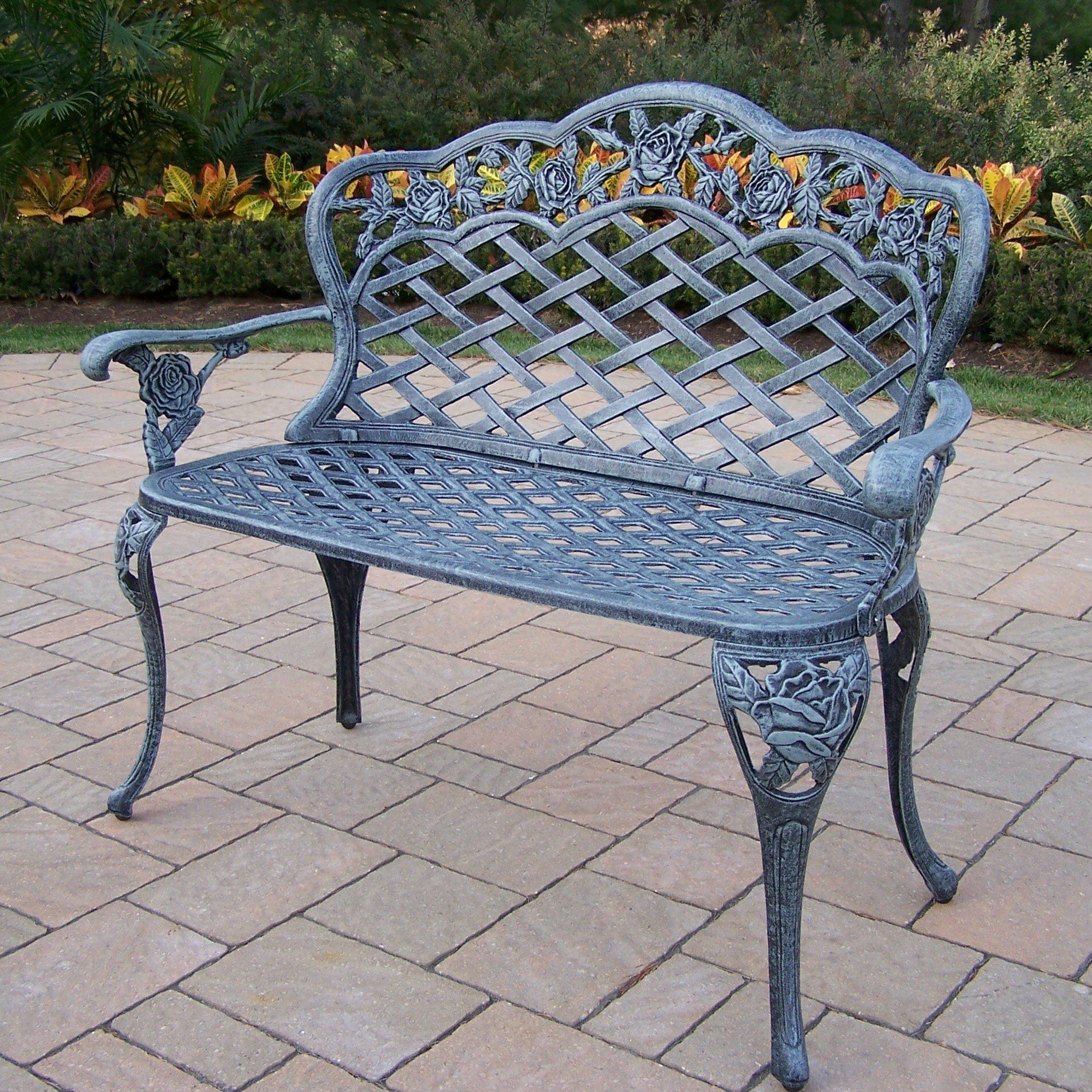Oakland Living Tea Rose Aluminum Garden Bench Reviews