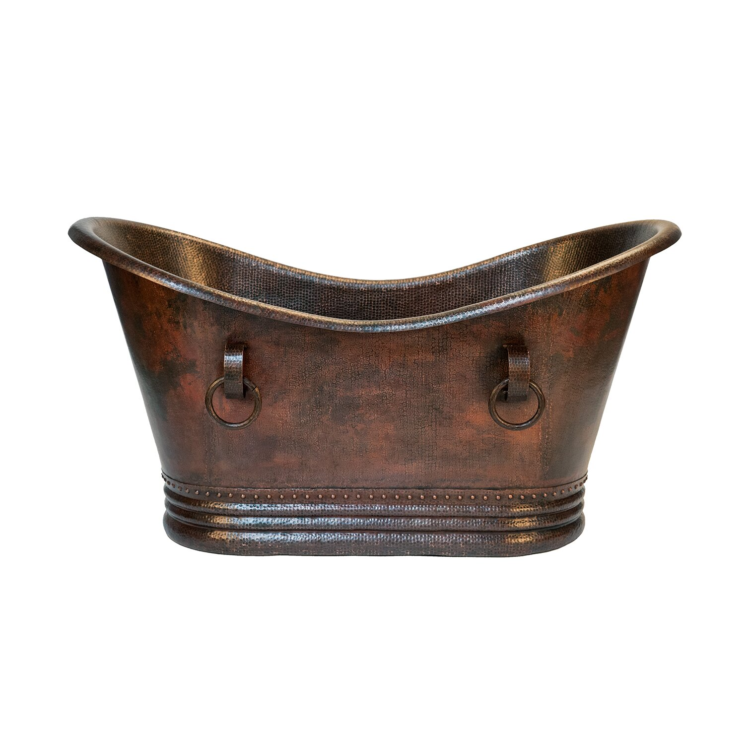 premier copper products double 60 x 32 slipper bathtub