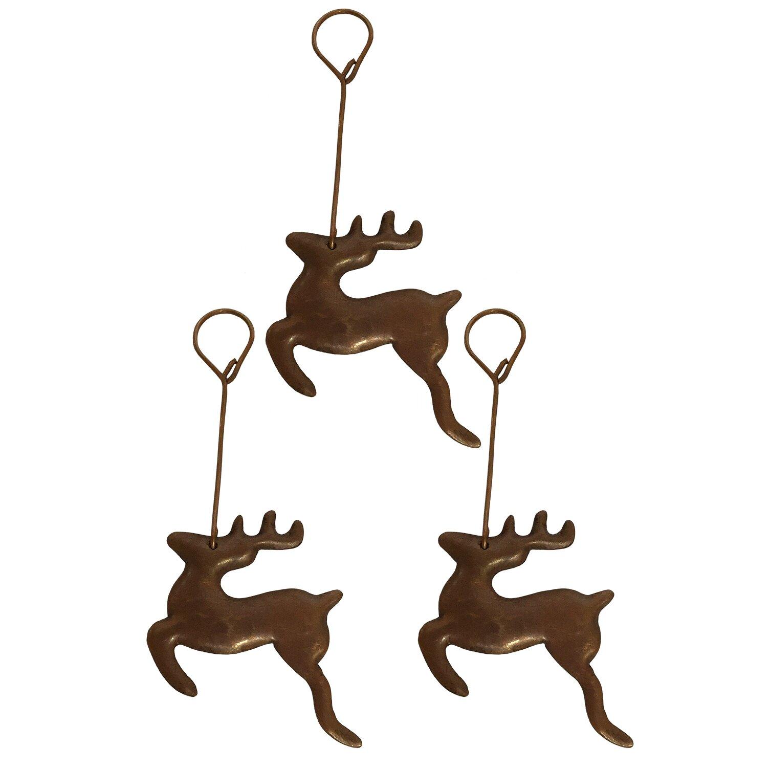 Reindeer christmas ornaments - Premier Copper Products Hand Hammered Copper Reindeer Christmas Ornament