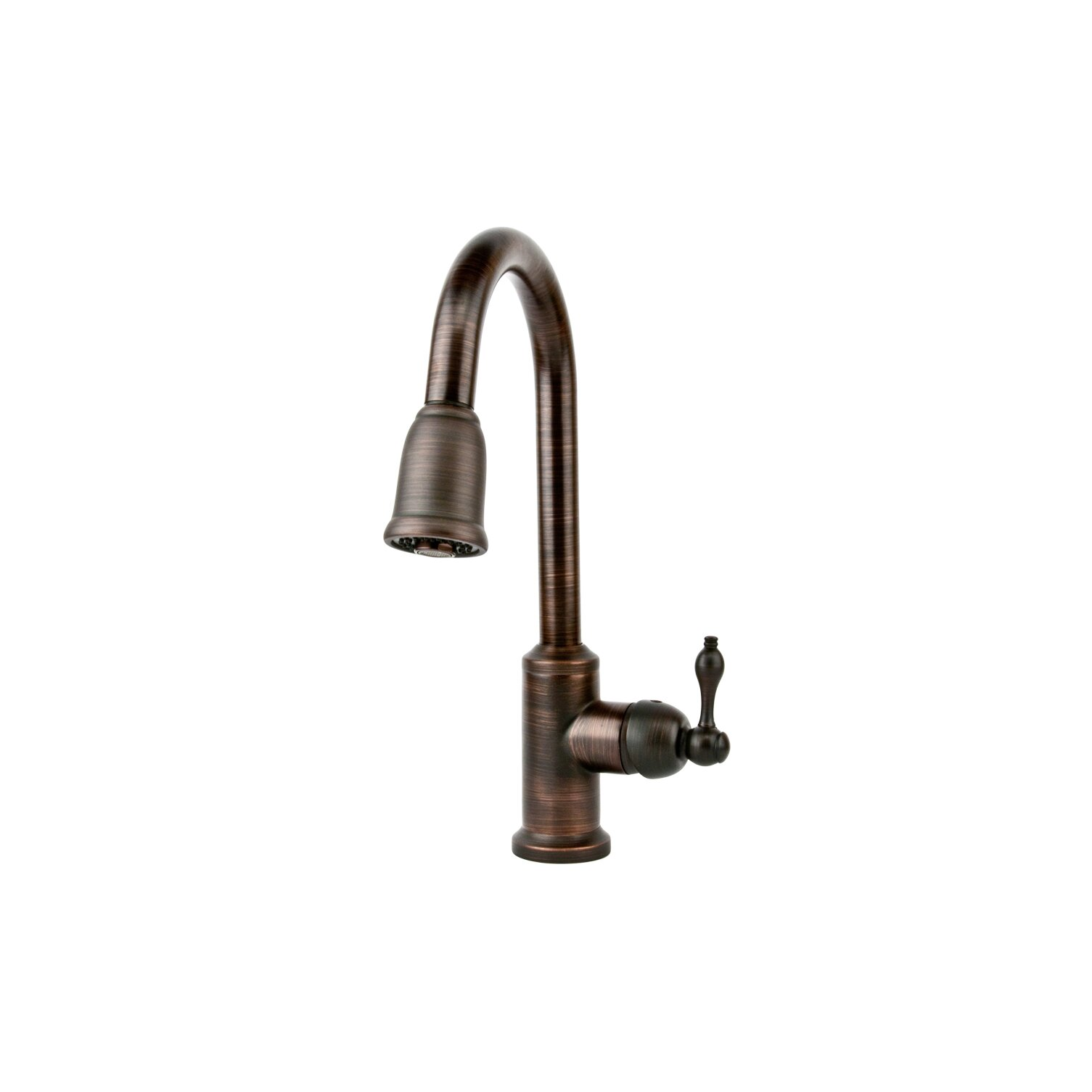 Kitchen Pull Out Faucet Premier Copper Products Single Handle Kitchen Faucet With Pullout