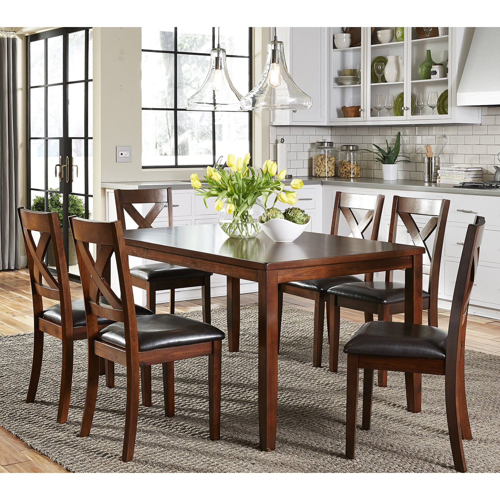 7 Piece Dining Room Set: Darby Home Co Nadine 7 Piece Dining Set