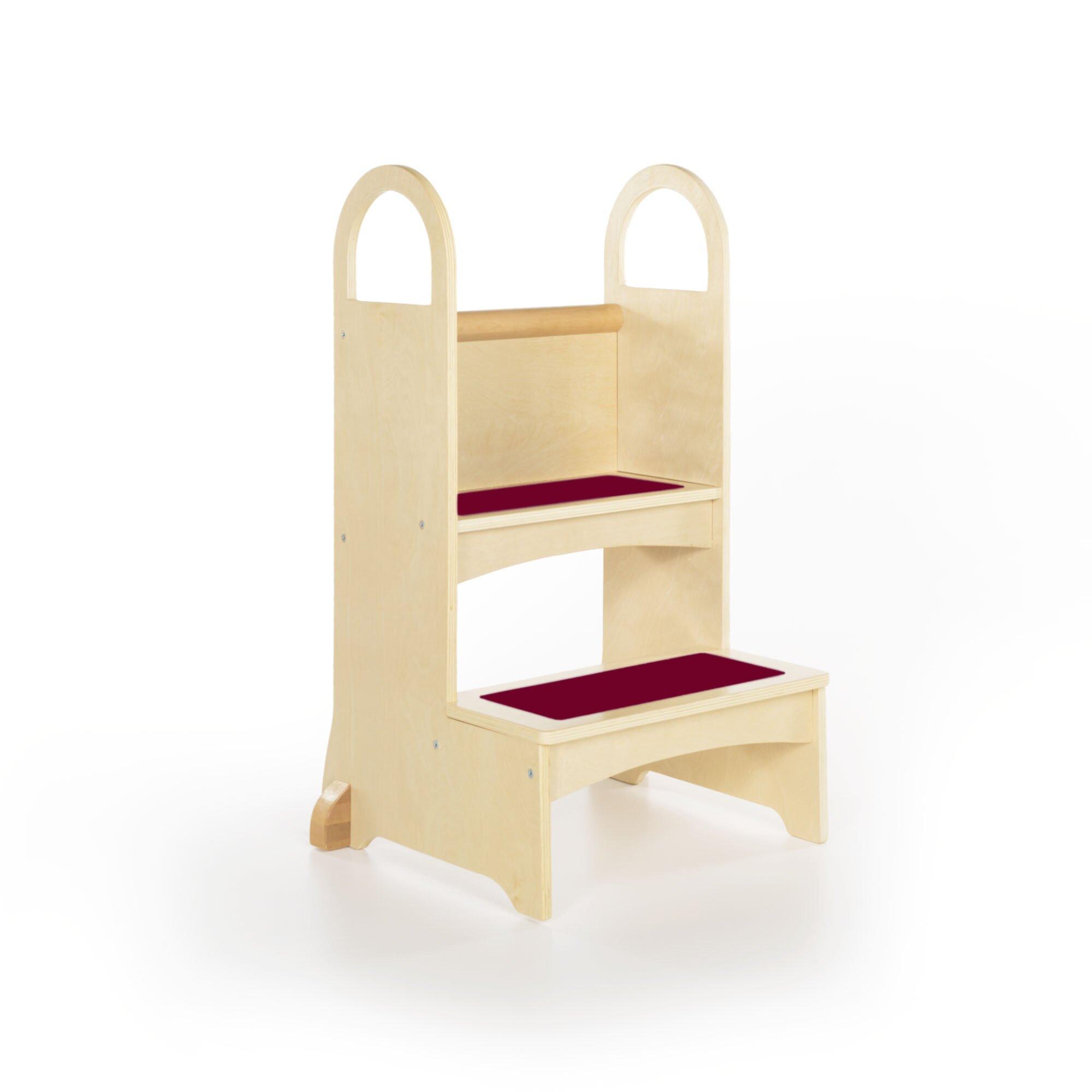 Step Stool For Bedroom Guidecraft High Rise Step Stool Reviews Wayfair