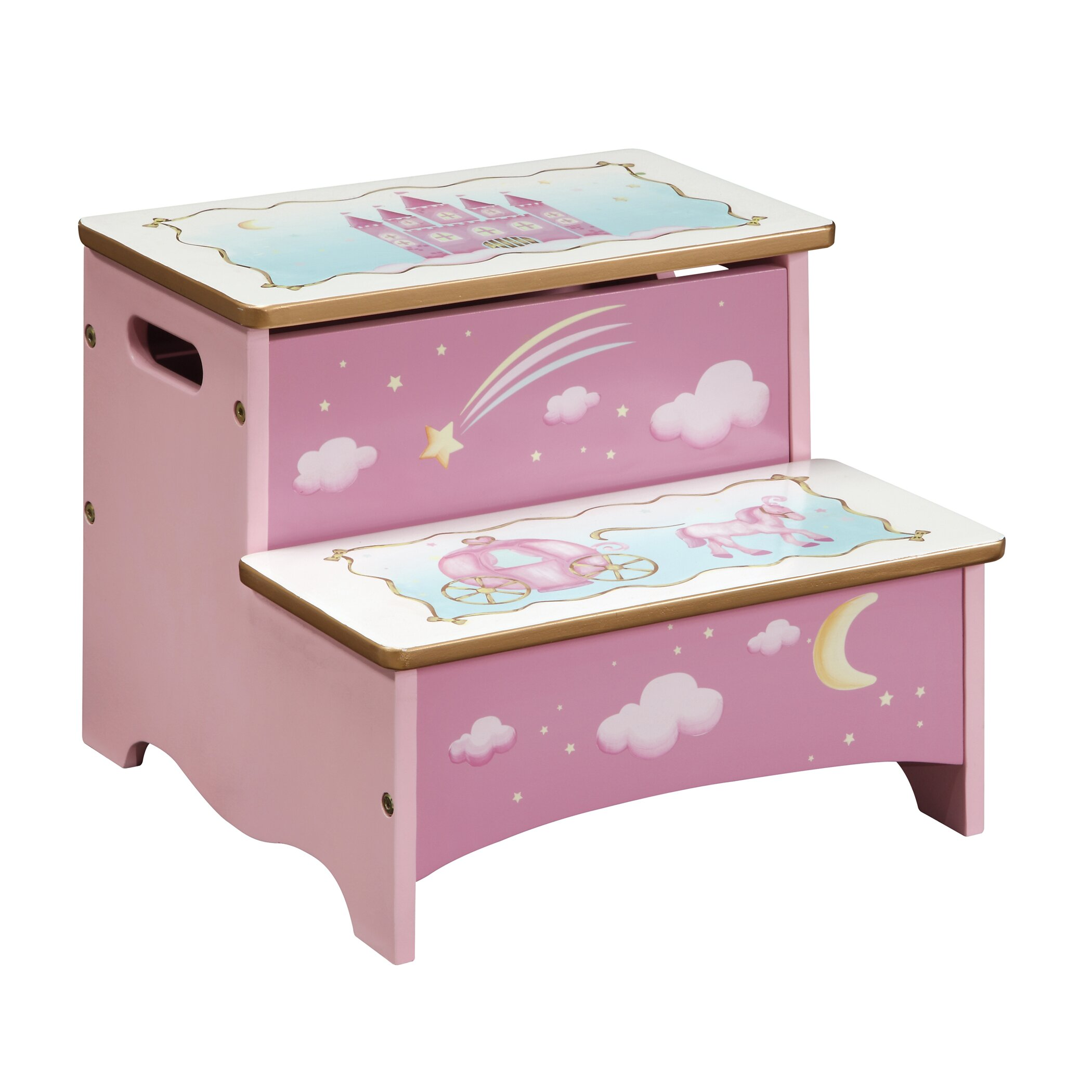 image quarter bamboo bathroom stool guidecraft princess  step step stool with storage