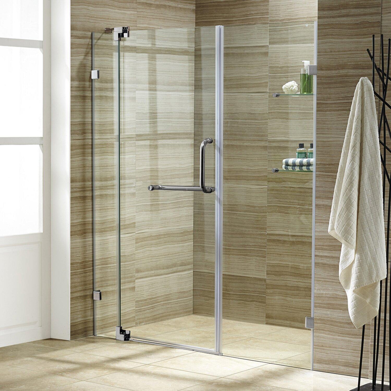pirouette 60 x 72 pivot frameless shower door shower bathtub doors you ll love wayfair