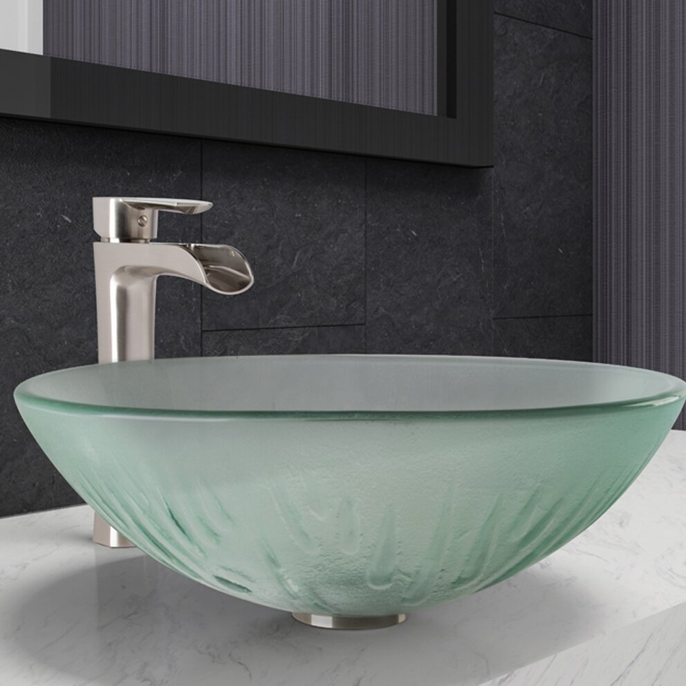 vigo bathroom sinks vigo vessel bathroom sink and niko faucet wayfair ca 14952