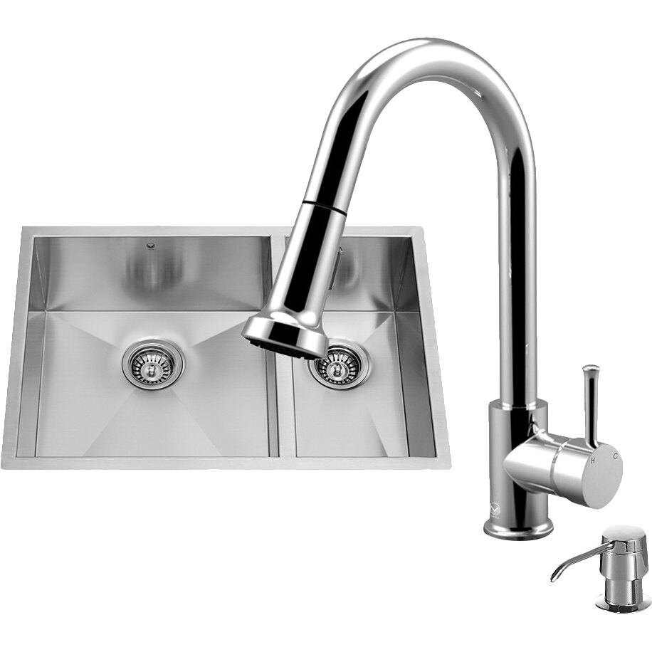 100 vigo stainless steel pull out kitchen faucet