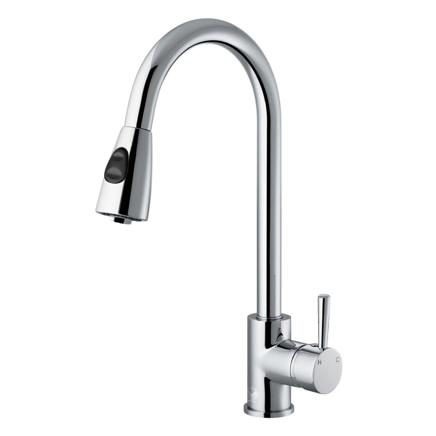 Kitchen Single Handle Faucet Vigo Weston Single Handle Pull Down Spray Kitchen Faucet Reviews