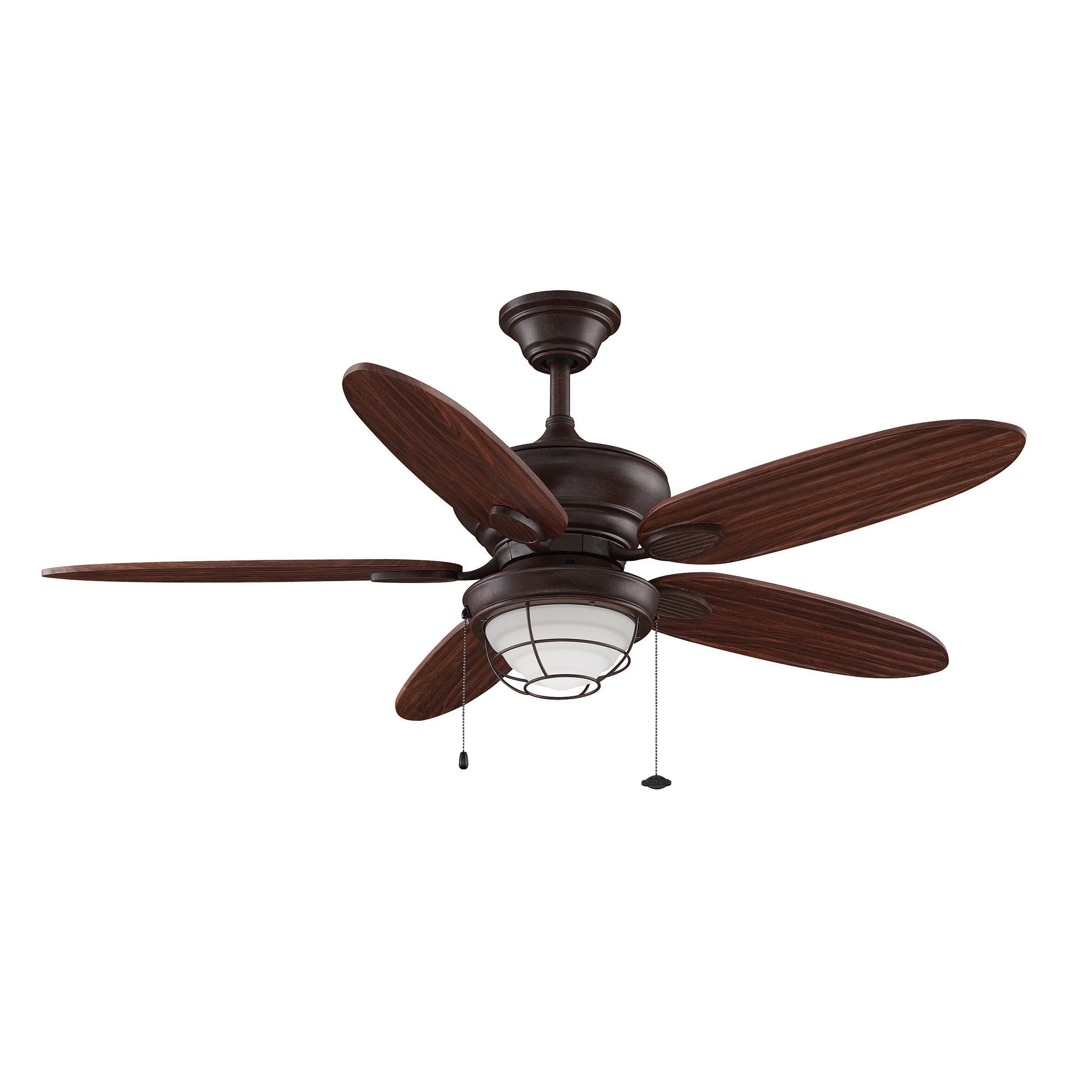 Outdoor ceiling fan with light and remote - 52 Kaya 5 Blade Ceiling Fan