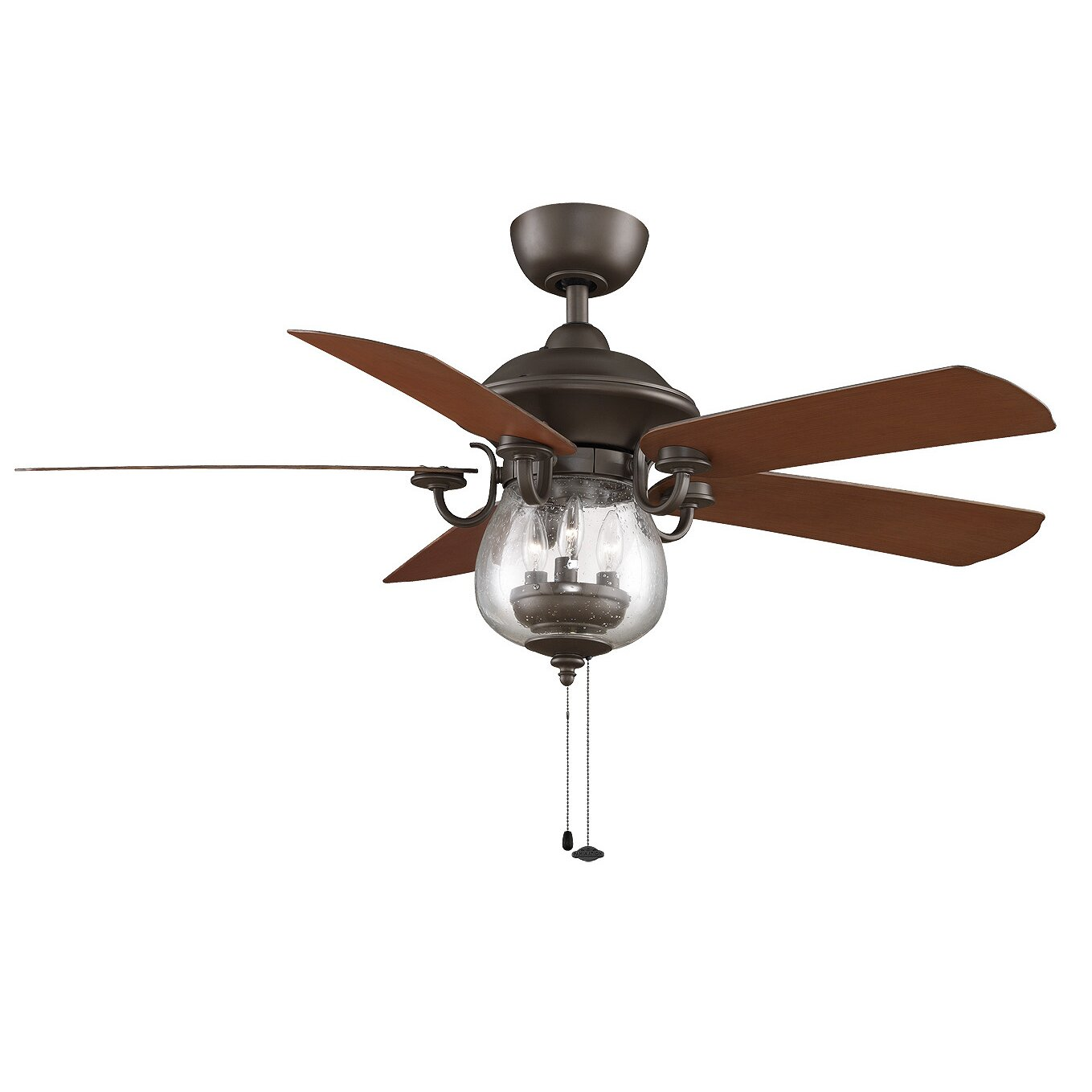 Outdoor ceiling fan with light and remote - Crestford 5 Blade Ceiling Fan