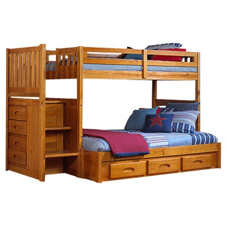 Discovery World Furniture Weston Twin Over Full Staircase Bunk Bed