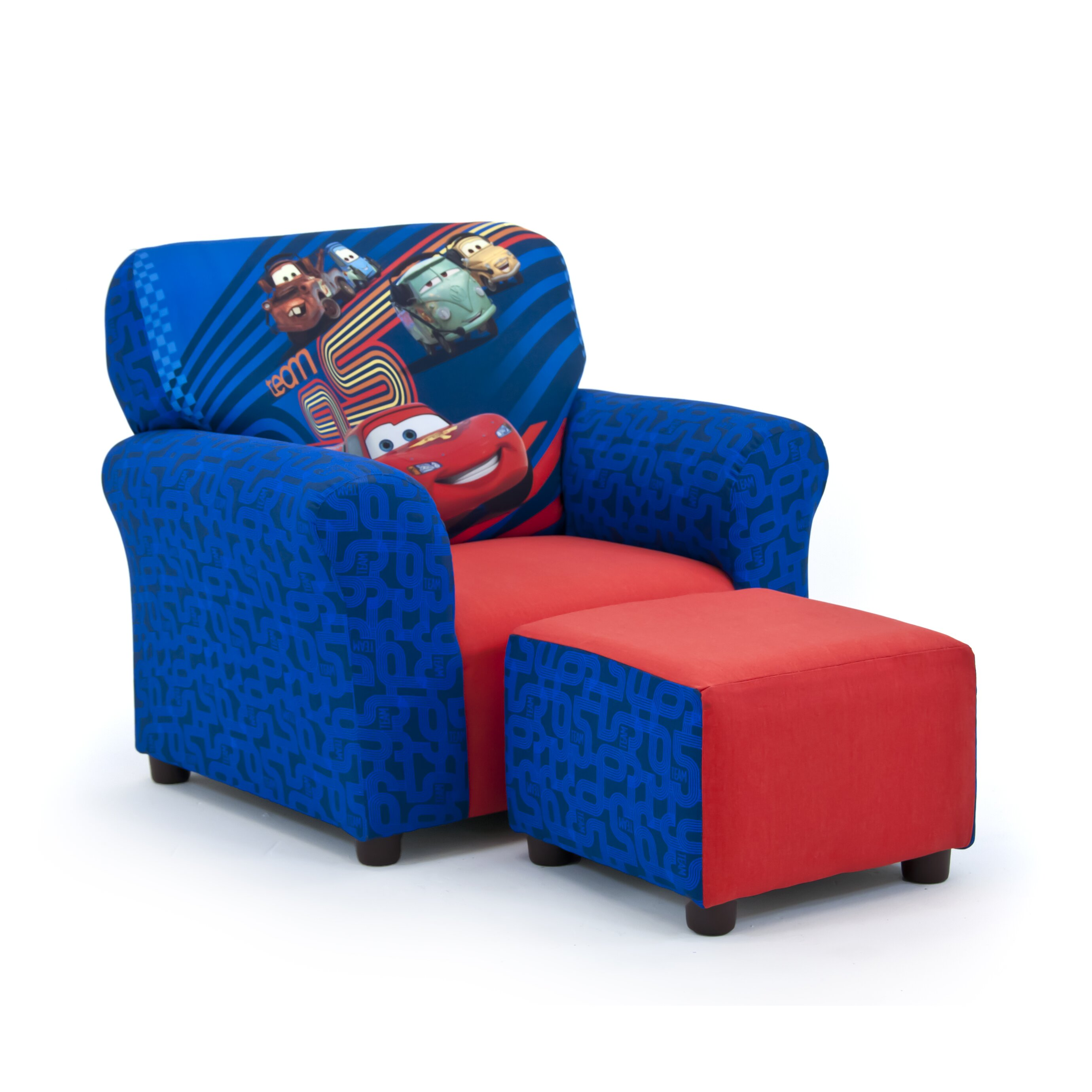 KidzWorld Disney 39 S Cars 2 Kids Club Chair And Ottoman