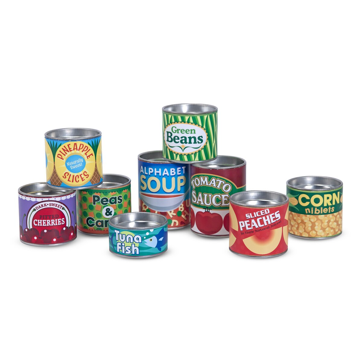 Melissa And Doug Retro Kitchen Melissa Doug Lets Play House Grocery Cans Reviews Wayfair