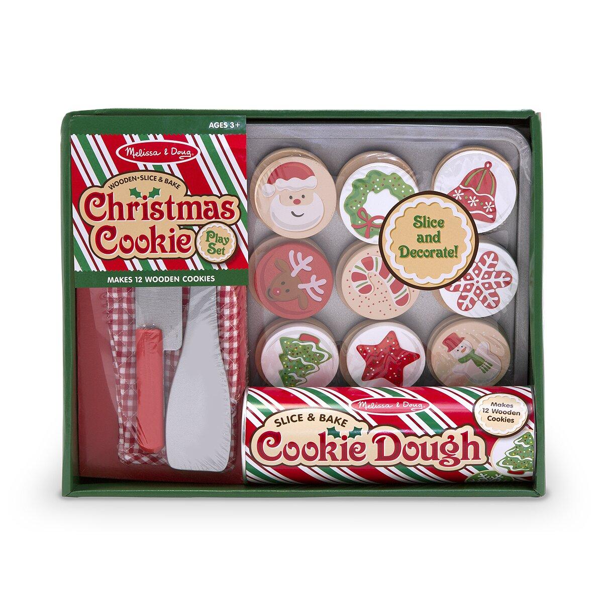 Melissa And Doug Retro Kitchen Melissa Doug Slice And Bake Christmas Cookie Play Set Reviews