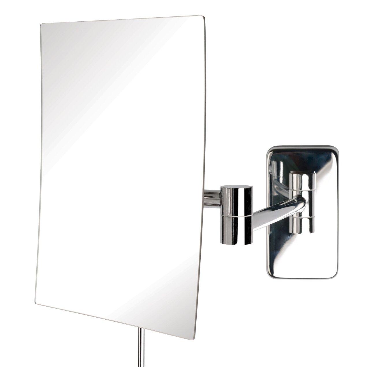 jerdon wall mount rectangular makeup mirror reviews wayfair. Black Bedroom Furniture Sets. Home Design Ideas