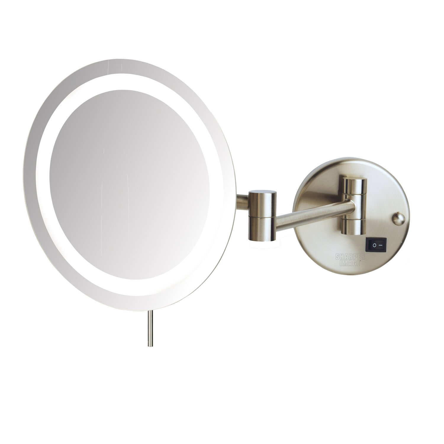 jerdon led 8x magnifying wall mount makeup mirror reviews wayfair. Black Bedroom Furniture Sets. Home Design Ideas