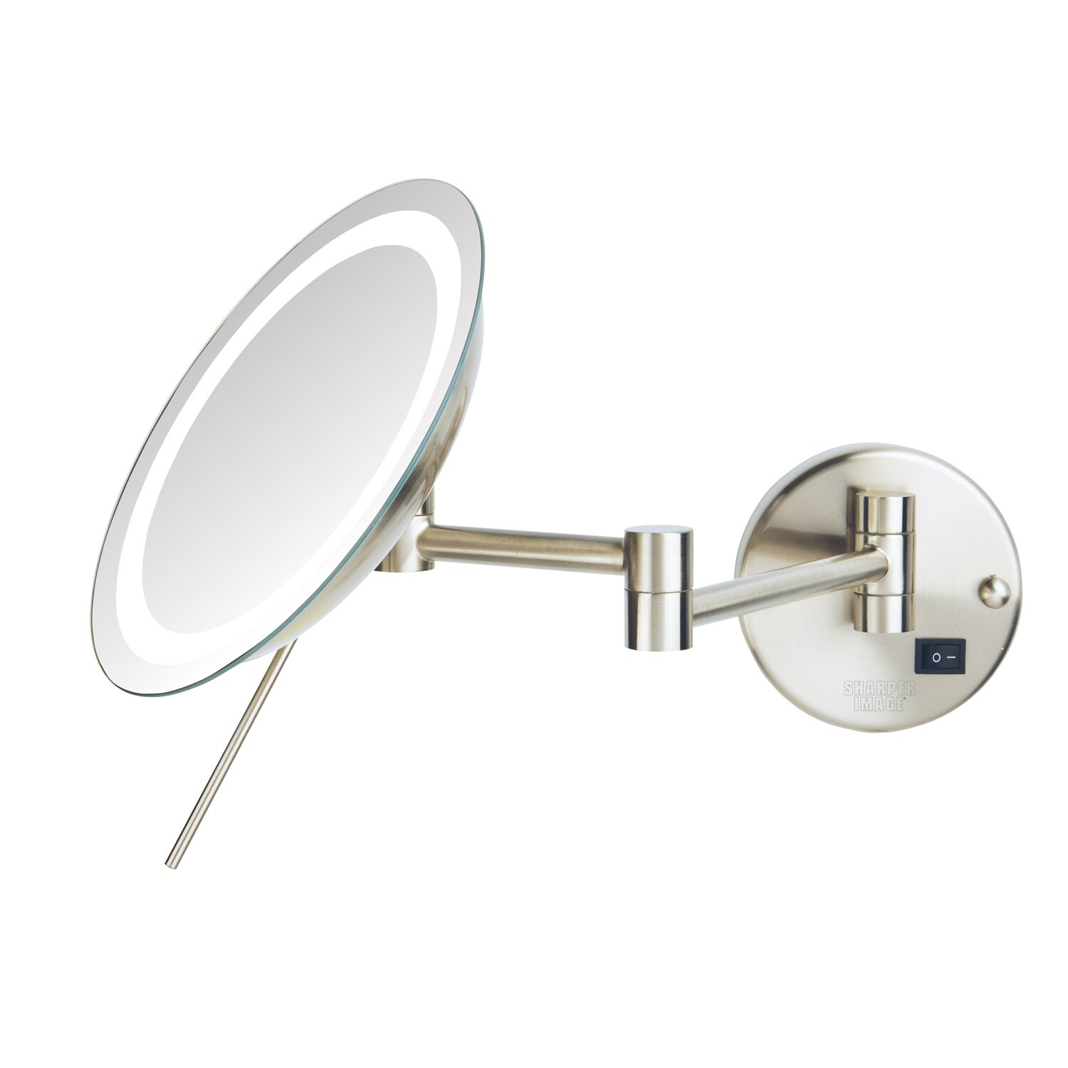 Wall mounted makeup mirror with lights - Jerdon Led 8x Magnifying Wall Mount Makeup Mirror