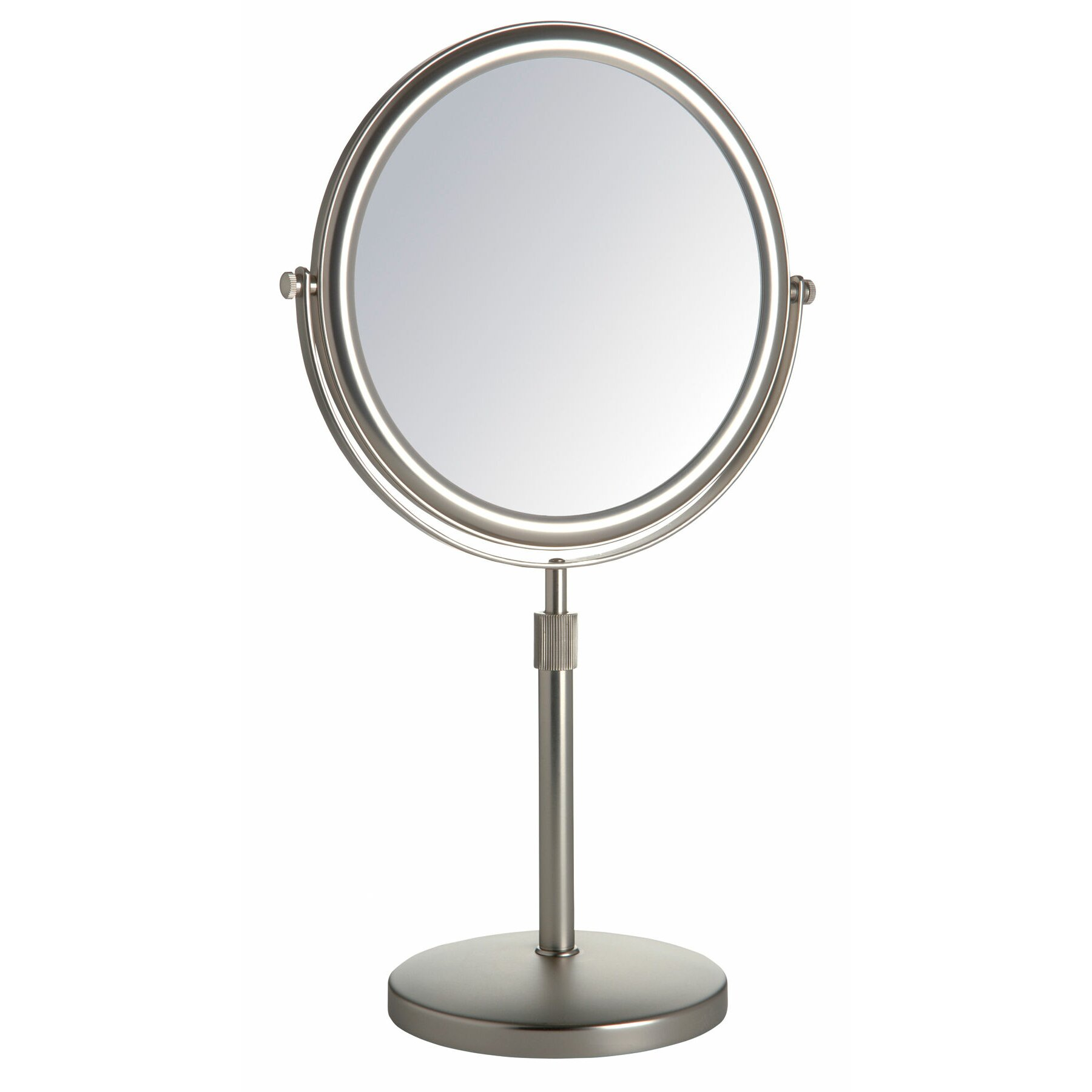 Makeup  Shaving Mirrors Youll Love Wayfair - Mirror on a stand vanity