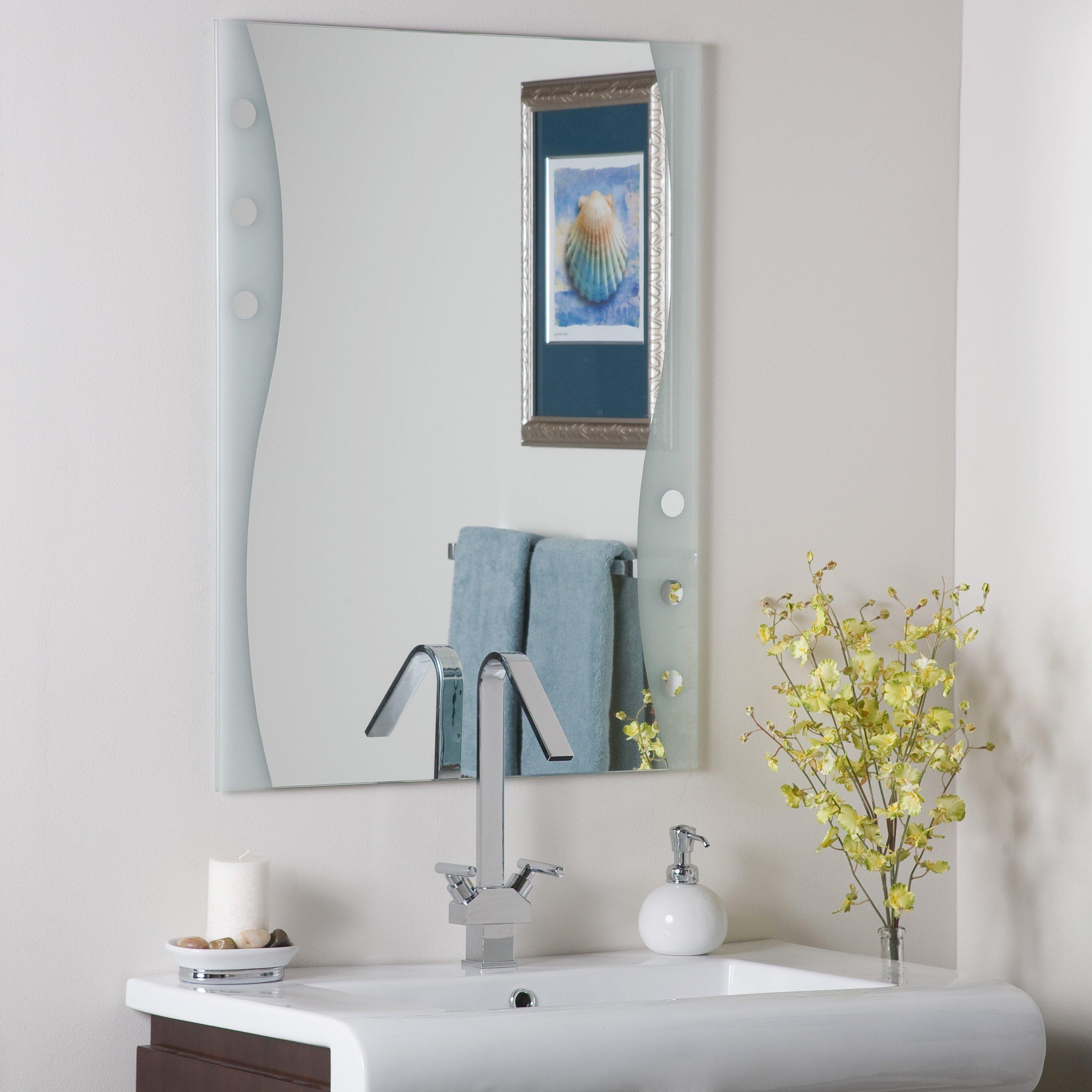 Decor Wonderland Frameless Maritime Wall Mirror & Reviews ...