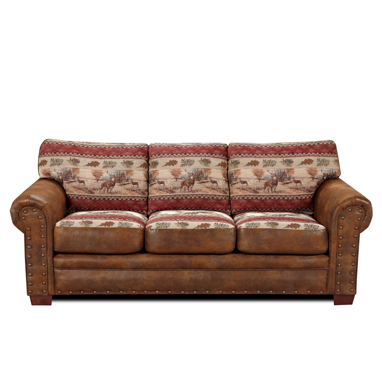 american furniture clics lodge deer valley sofa reviews wayfair - Lodge Furniture